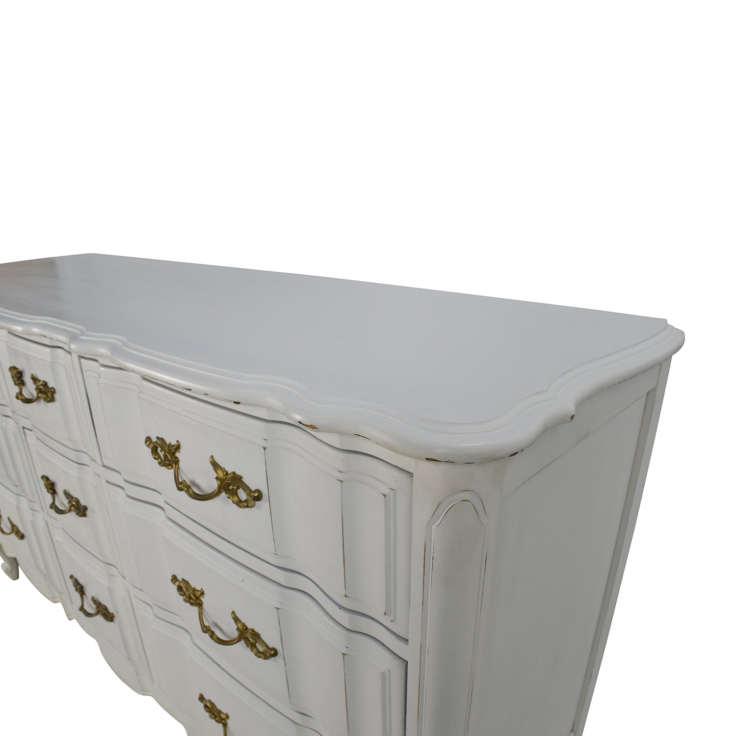 Antique Style White Dresser dimensions