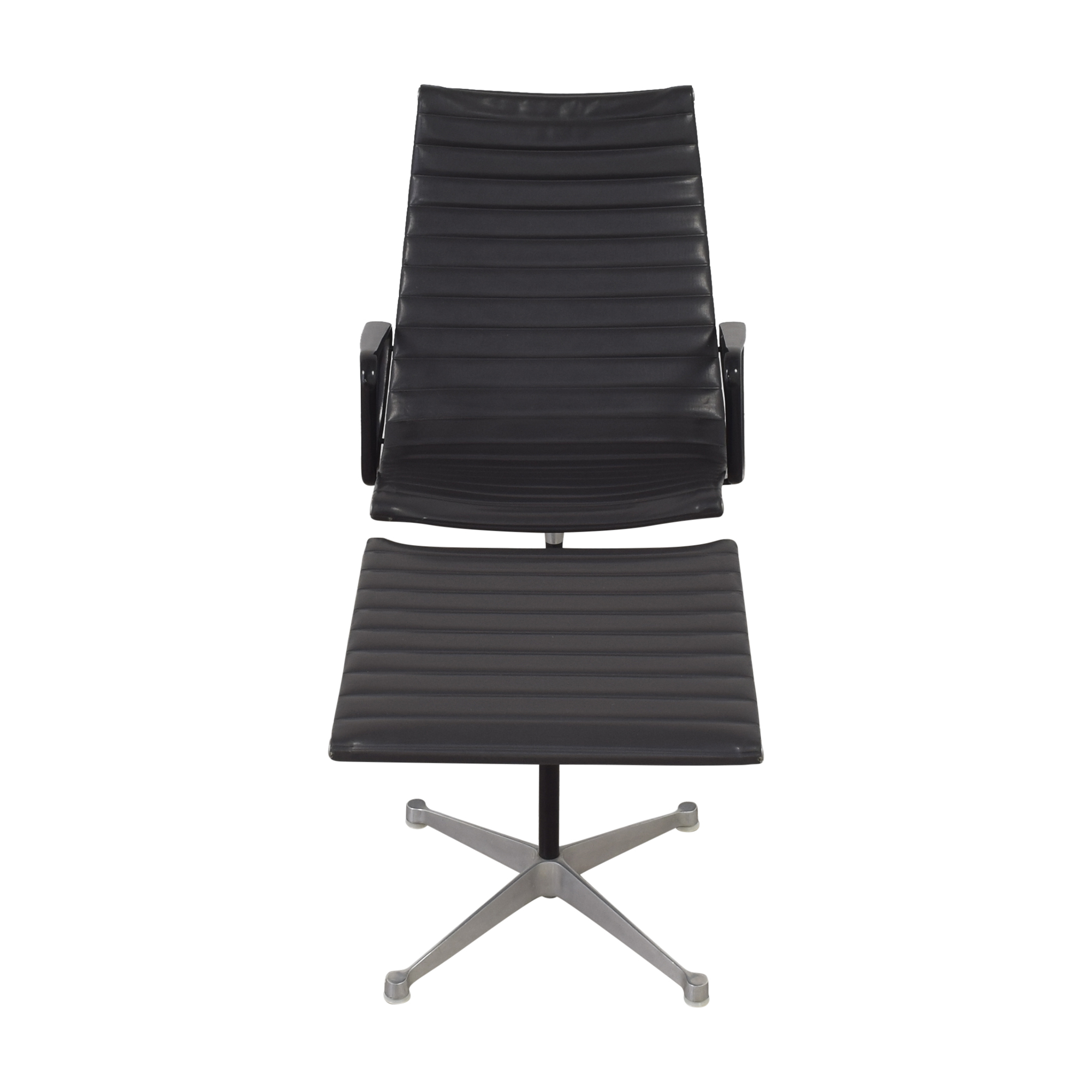 Herman Miller Herman Miller Eames Aluminum Group Lounge with Ottoman