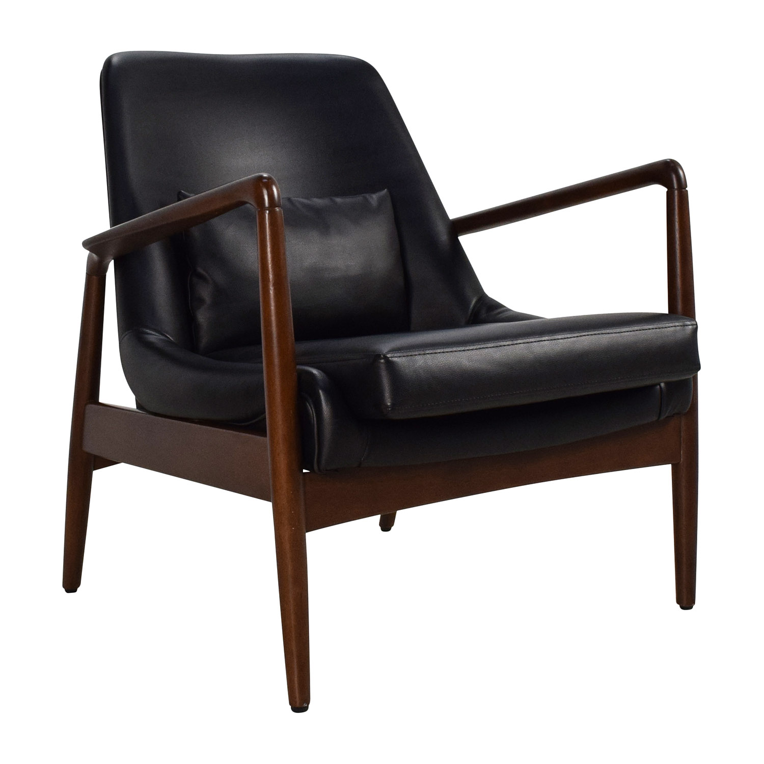 Black Leather Lounge Chair used; buy Black Leather Lounge Chair Accent  Chairs; Black Leather Lounge Chair price ...