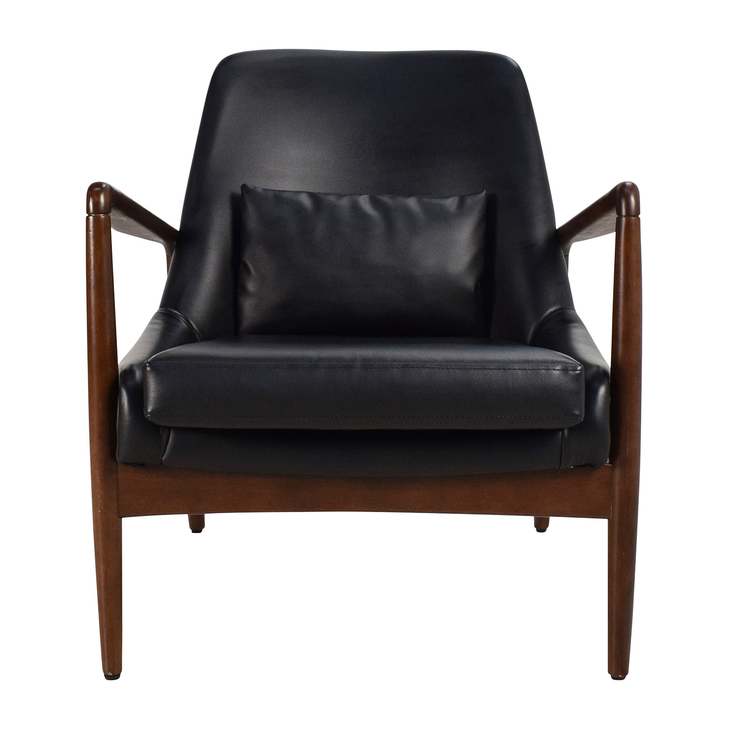 Black Leather Lounge Chair discount