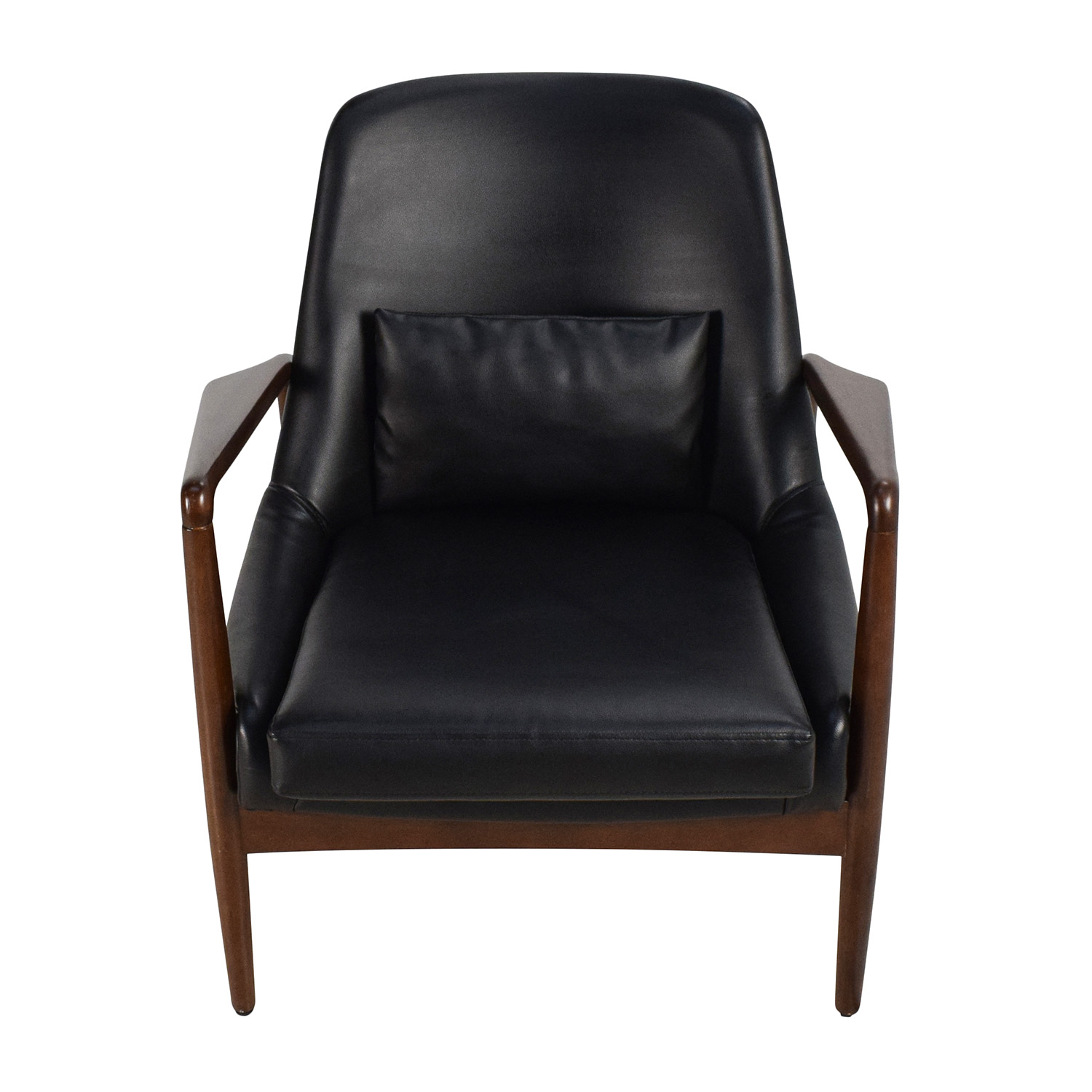 Black Leather Lounge Chair Chairs