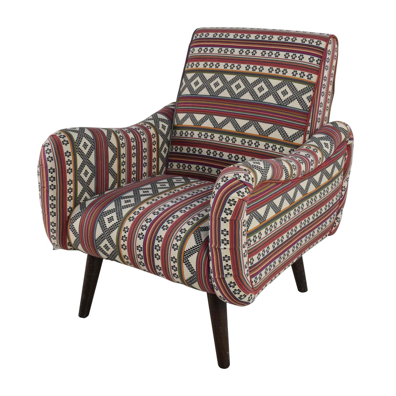 75% OFF - Aztec Pattern Accent Armchair / Chairs