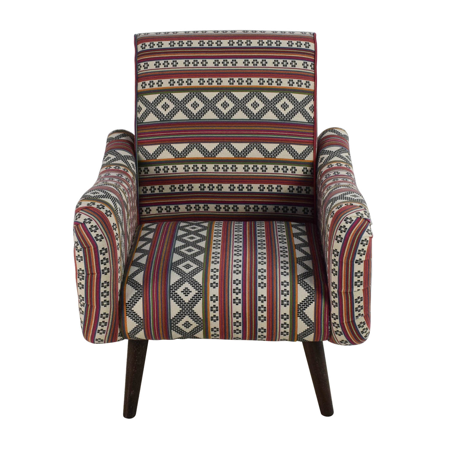 Aztec Pattern Accent Armchair for sale