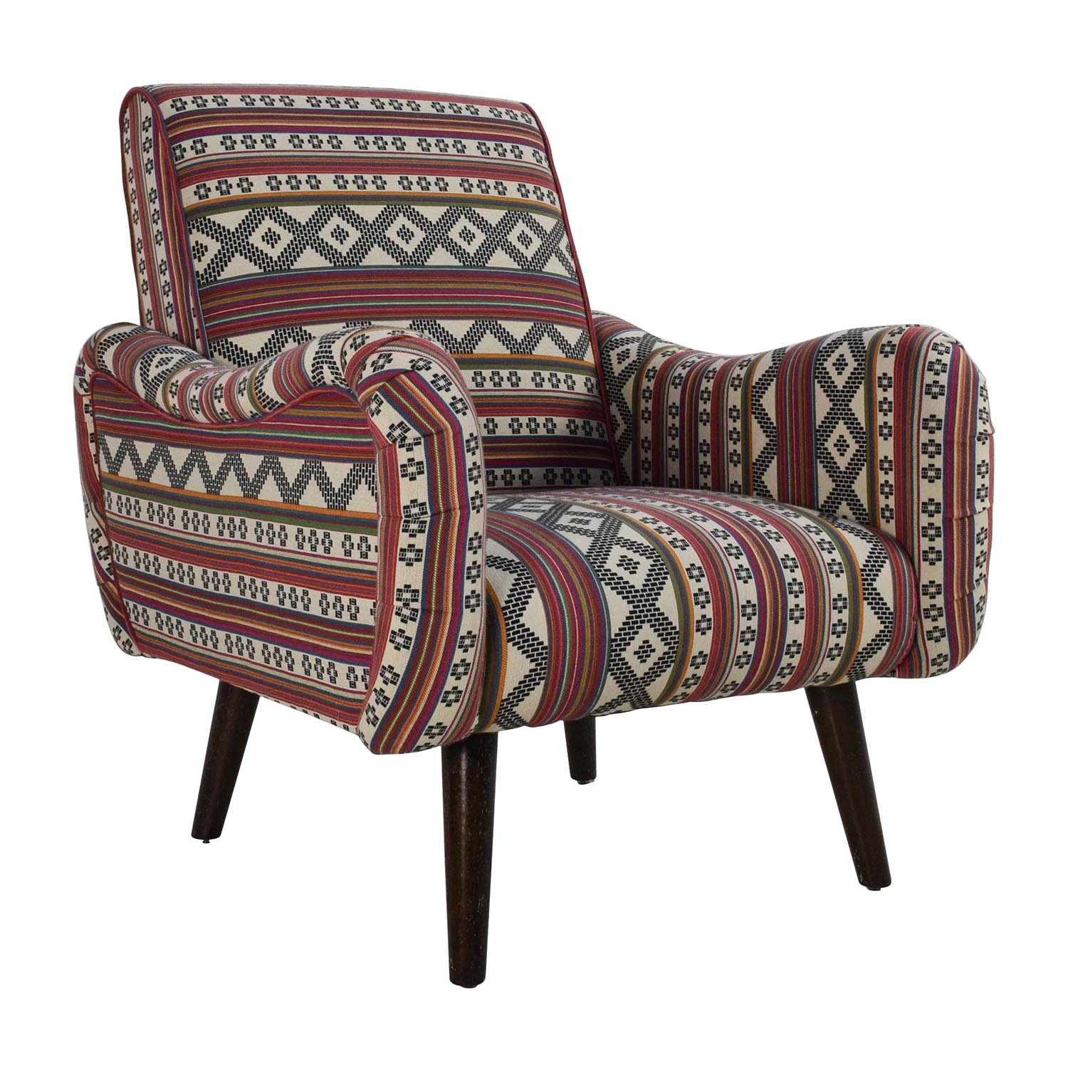 aztec pattern accent armchair chairs