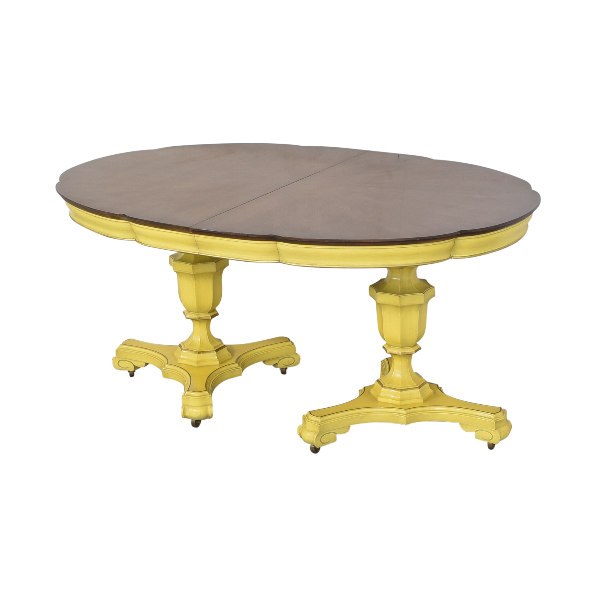 Union National Union National Double Pedestal Extending Dining Table Tables