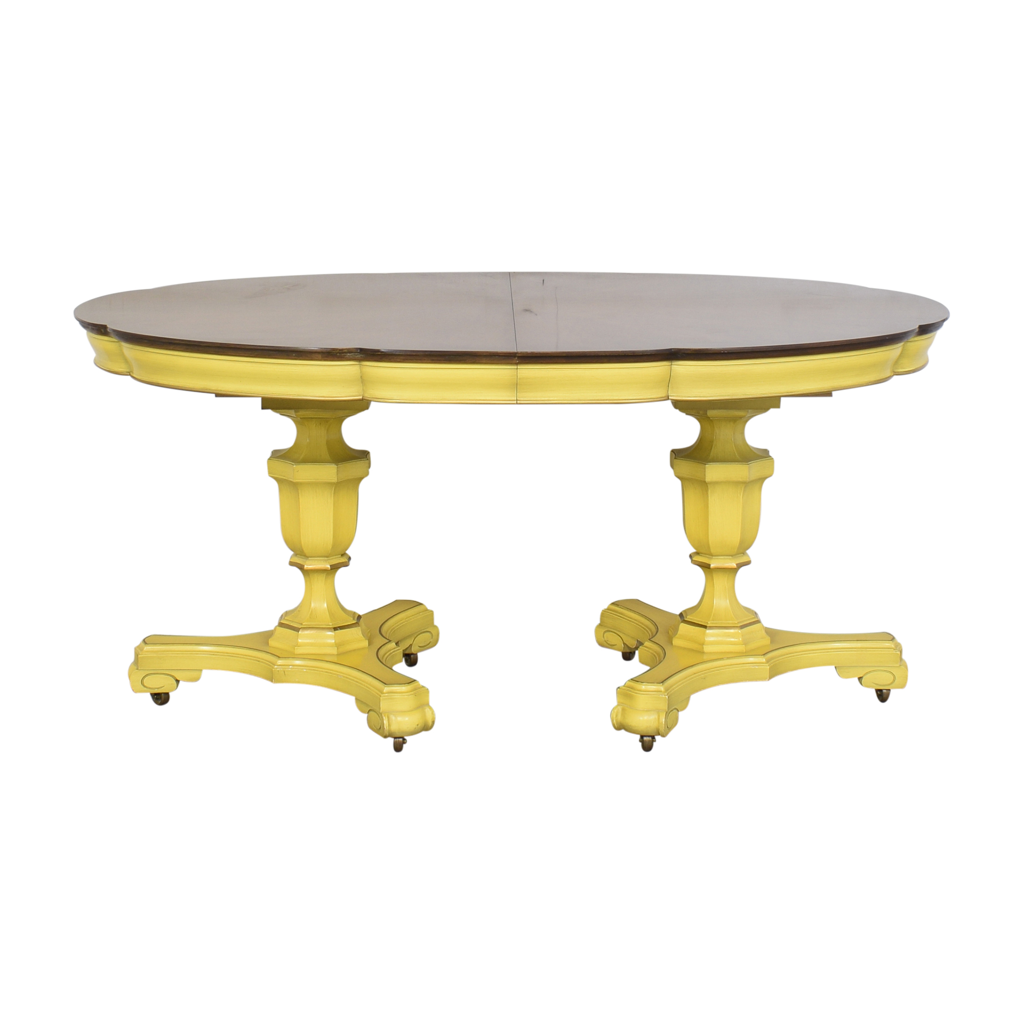shop Union National Double Pedestal Extending Dining Table Union National Dinner Tables