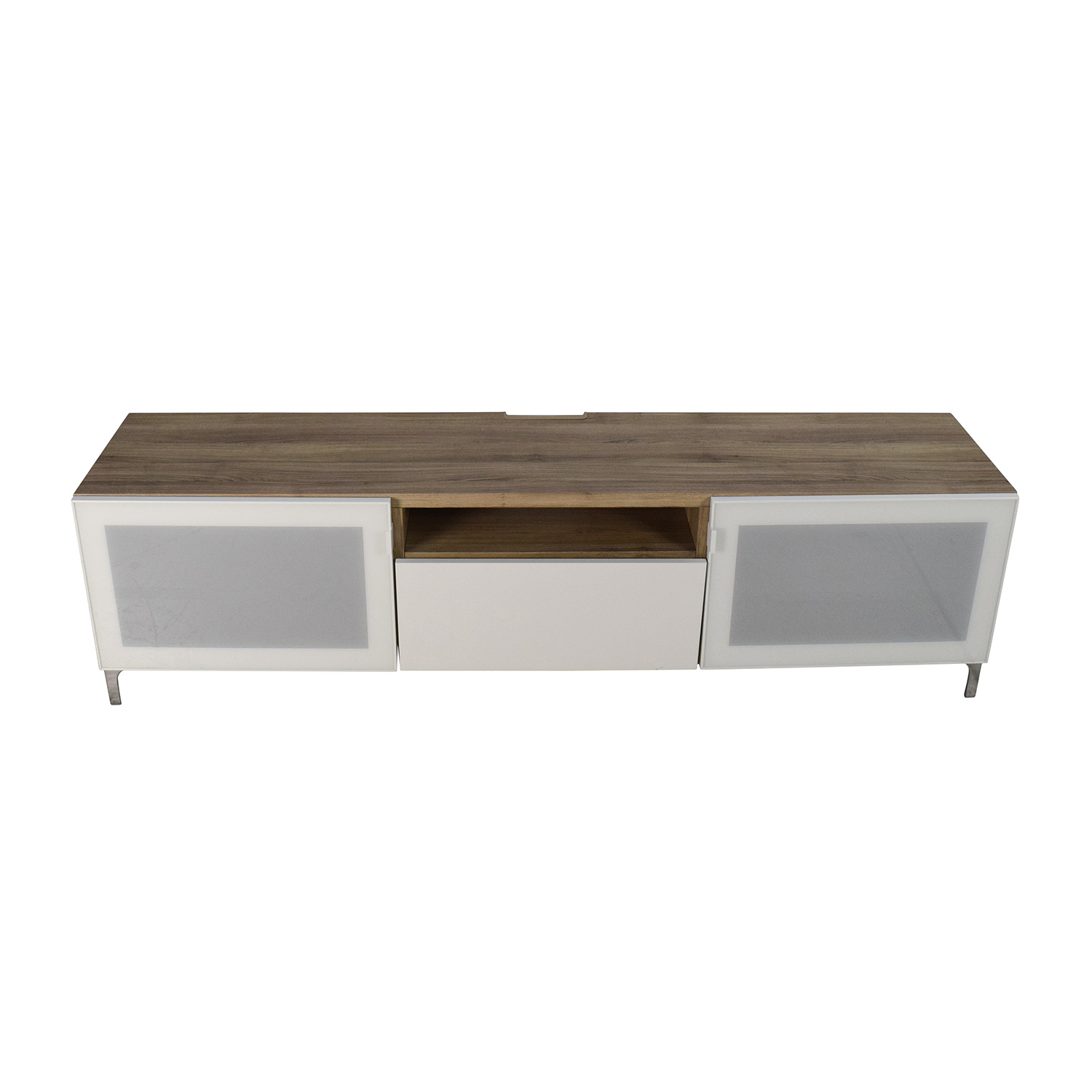 49% OFF IKEA IKEA Brown Wood Media Cabinet Storage