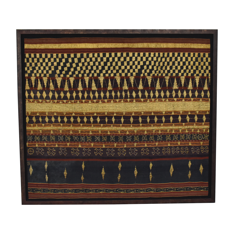Indonesian Framed Textile