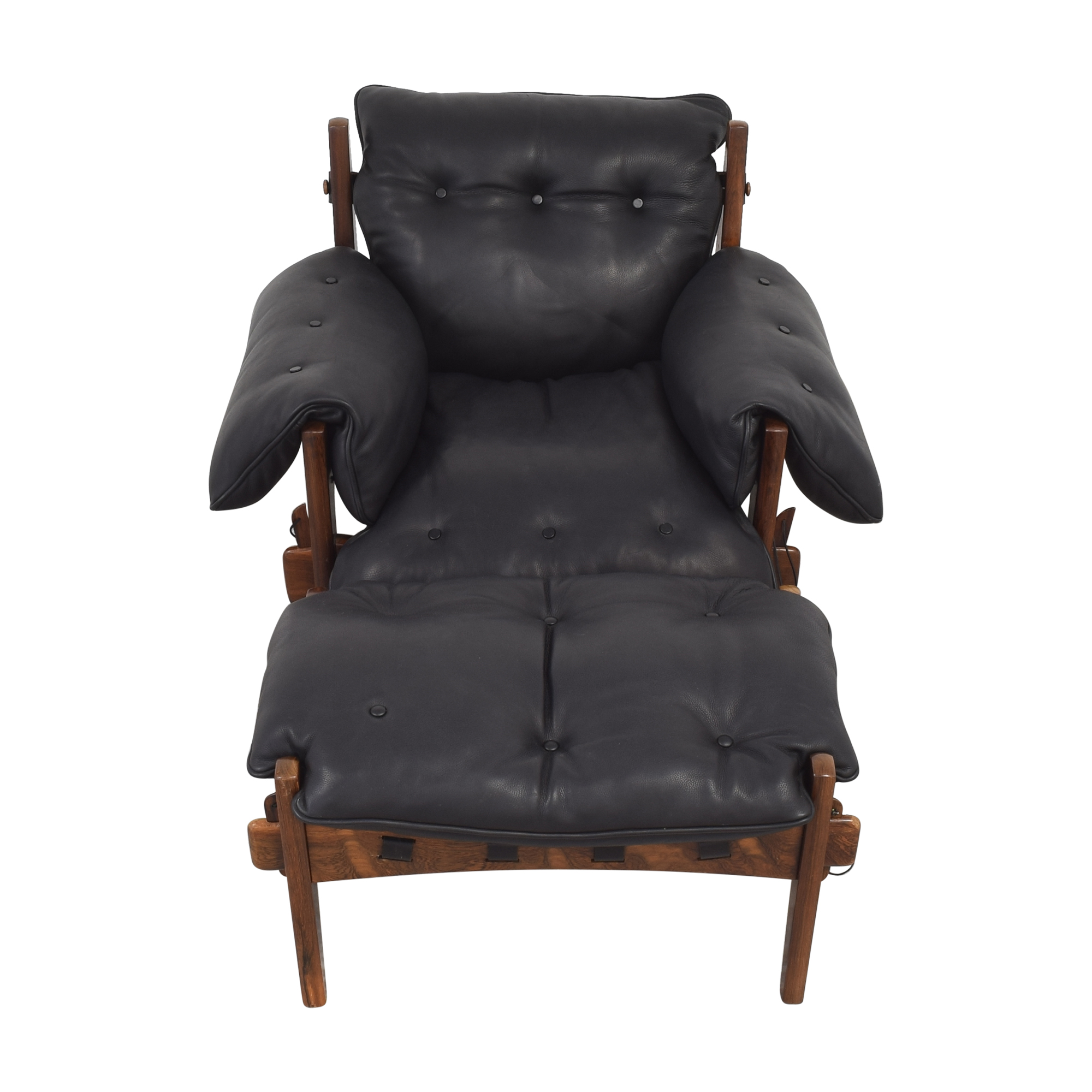 shop Sergio Rodrigues Mischievous Chair and Ottoman Sergio Rodrigues Accent Chairs