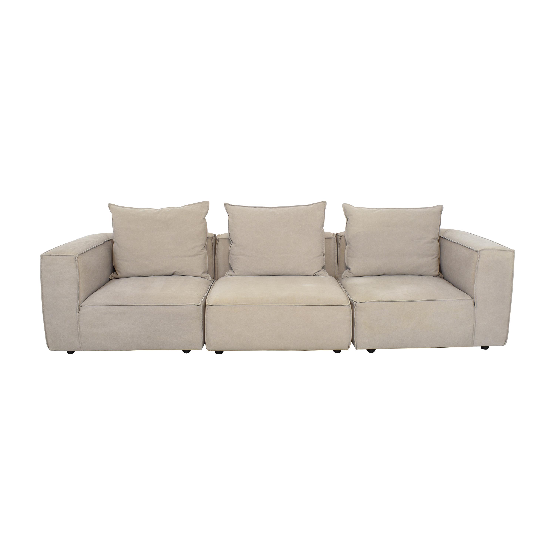 Arhaus Arhaus Coburn Three Piece Sectional Sofa dimensions