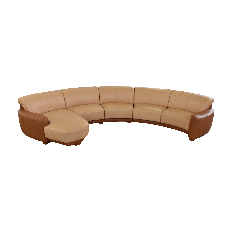 W. Schillig W. Schillig Amber Curved Sectional Sofa Sofas