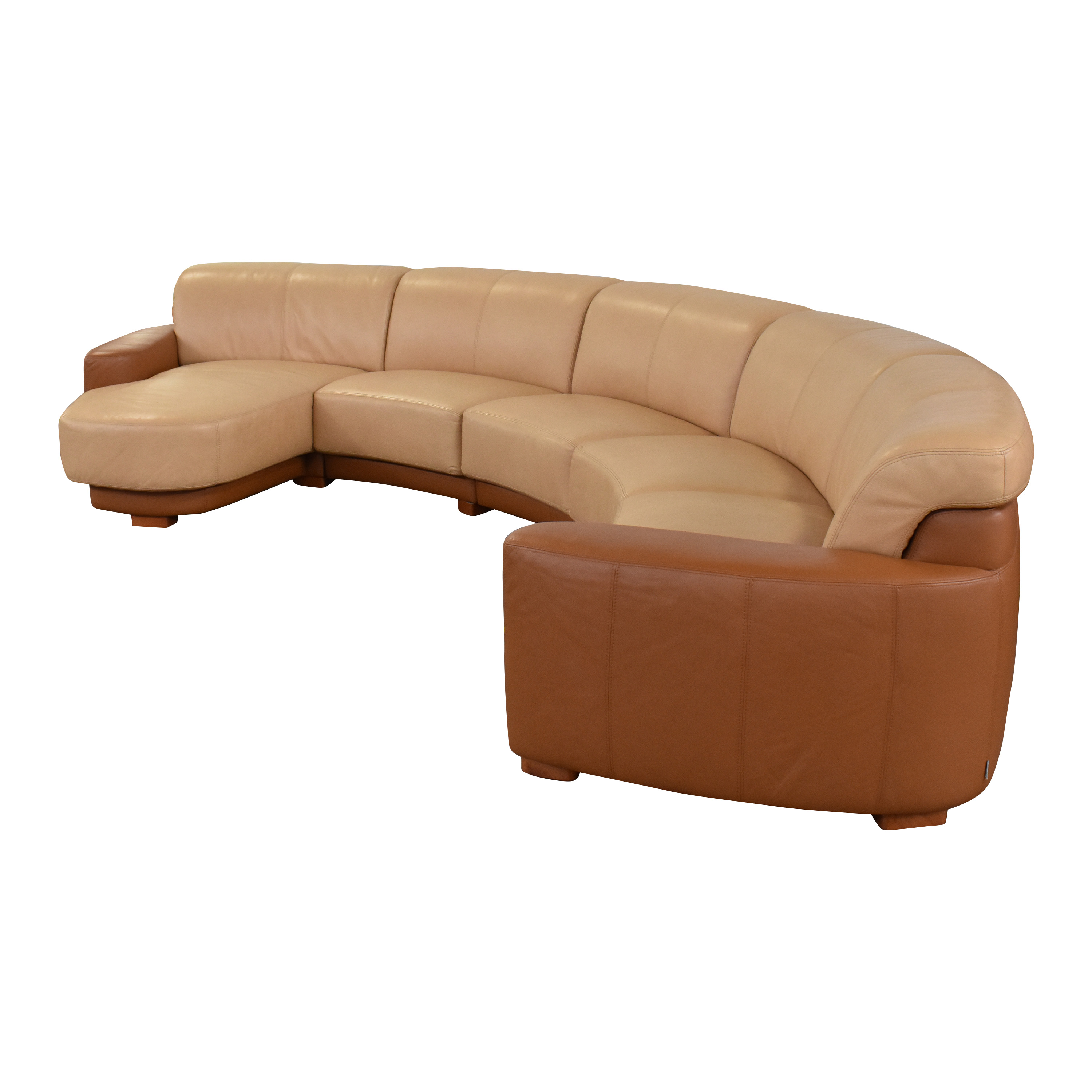 W. Schillig Amber Curved Sectional Sofa W. Schillig