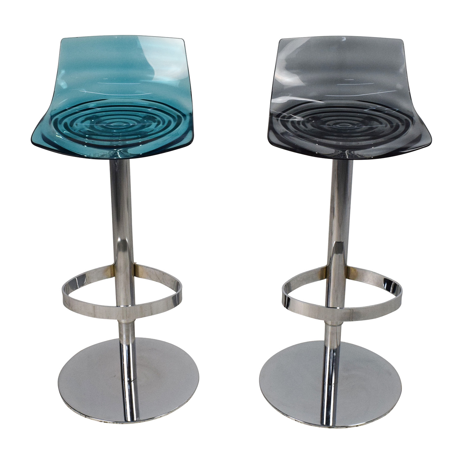 Calligaris LEau Adjustable Swivel Bar Stool Pair Calligaris
