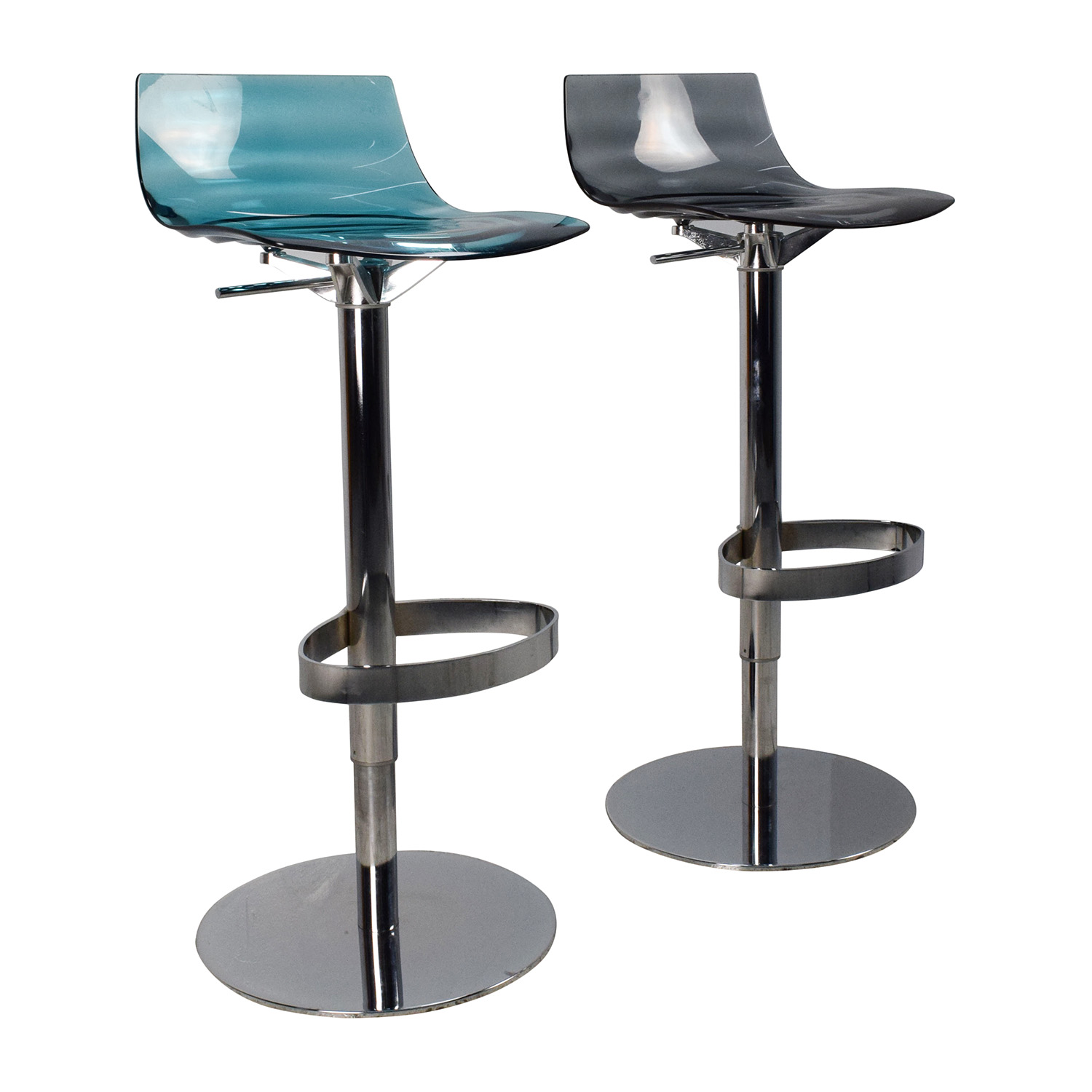 87 Off Calligaris Calligaris L 39 Eau Adjustable Swivel Bar Stool Pair Chairs