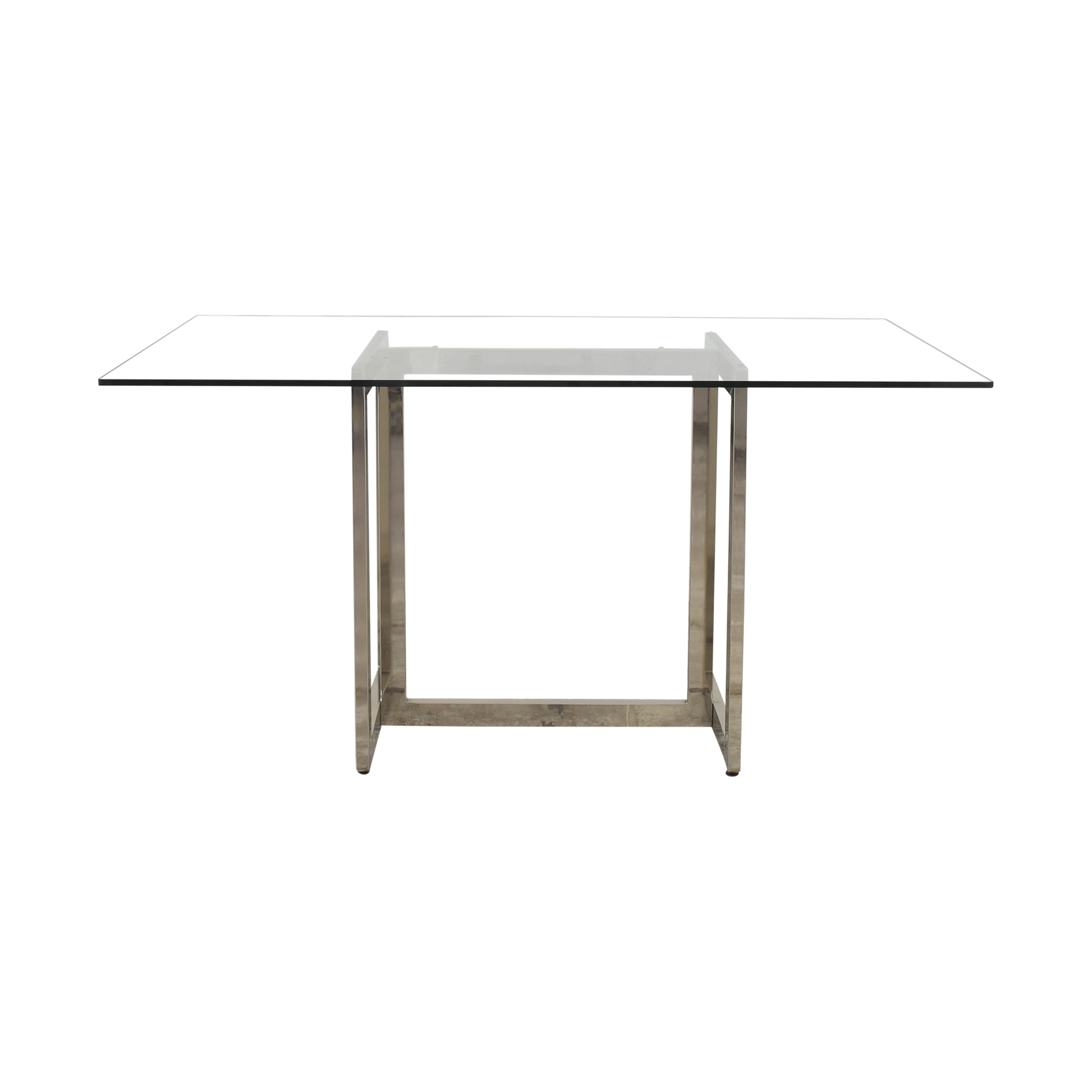 West Elm West Elm Rectangular Glass and Chrome Dining Table coupon