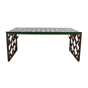 shop Crate & Barrel Crate & Barrel Glass Top Metalwork Coffee Table online