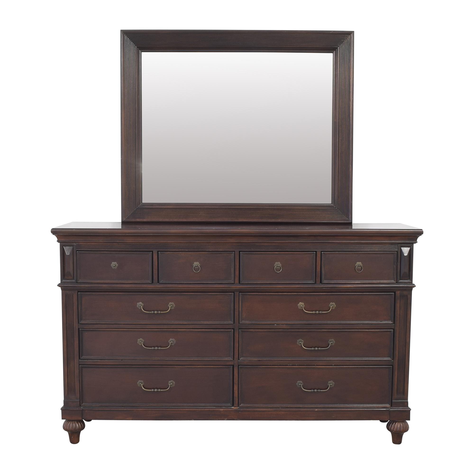 buy Klaussner Wide Dresser and Mirror Klaussner Dressers