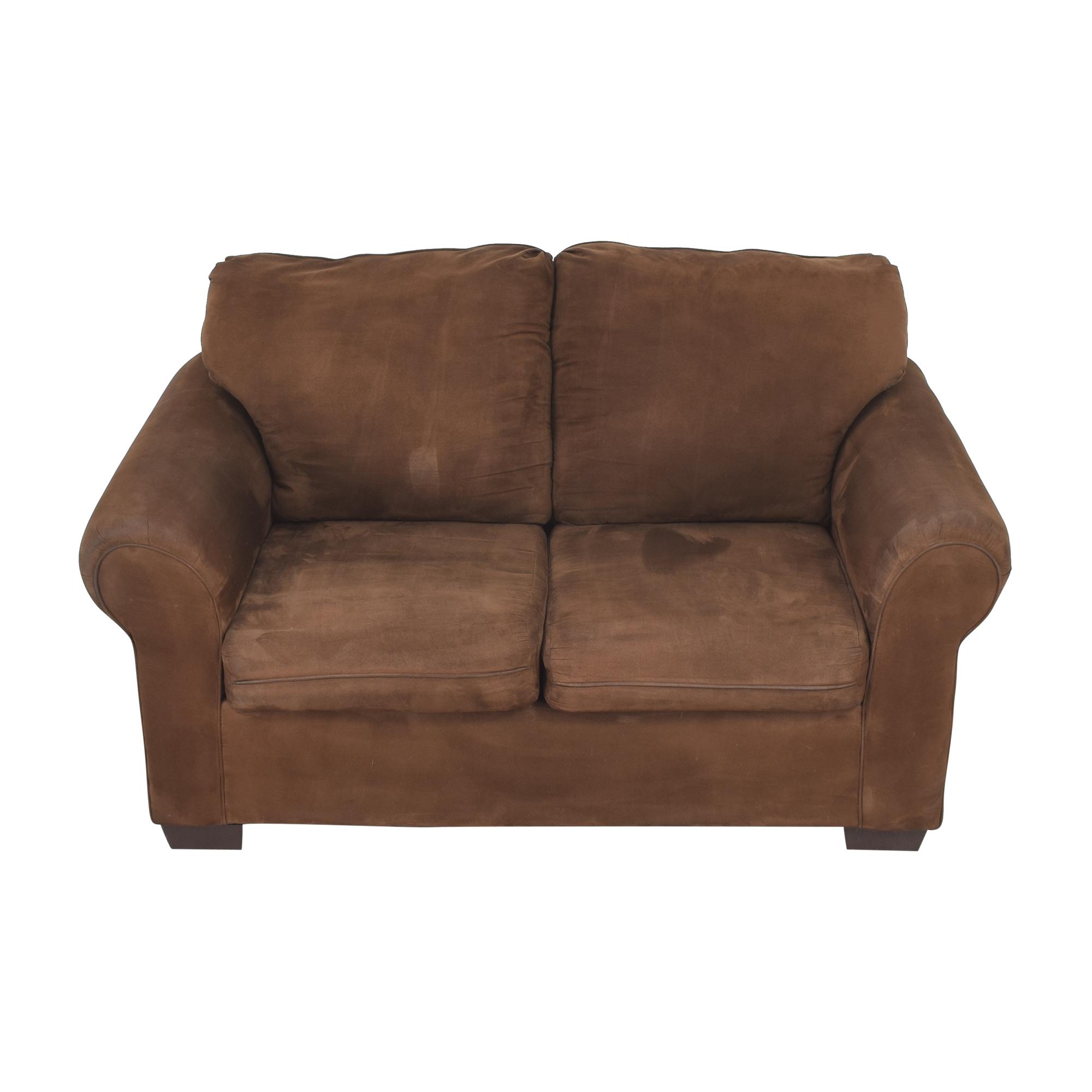 buy United Furniture Roll Arm Loveseat United Furniture