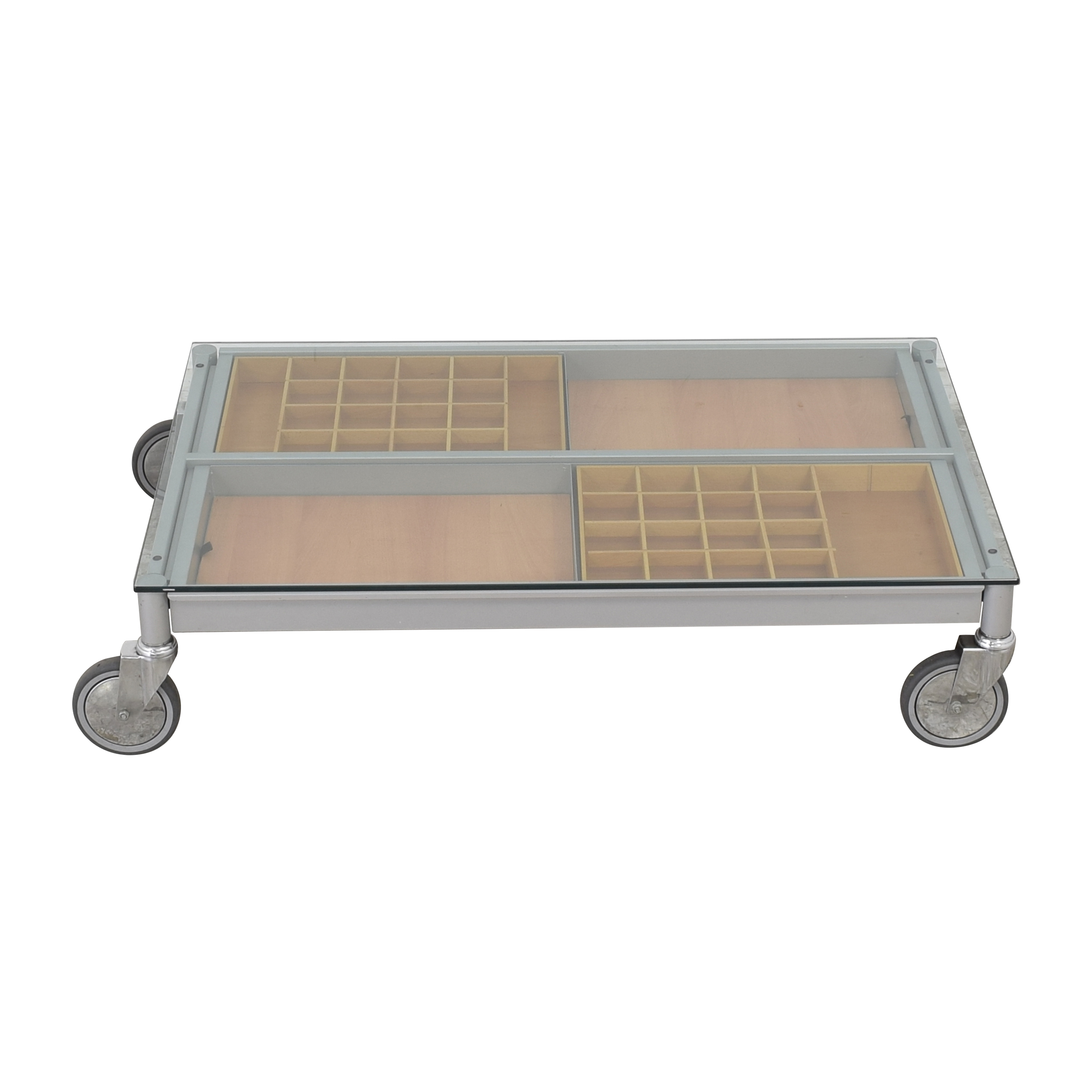 Coffee Table on Wheels second hand