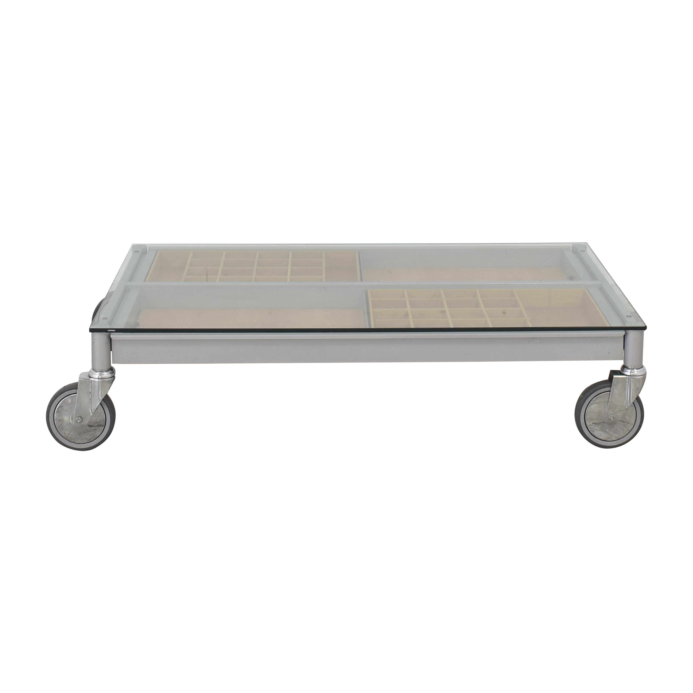 Coffee Table on Wheels used