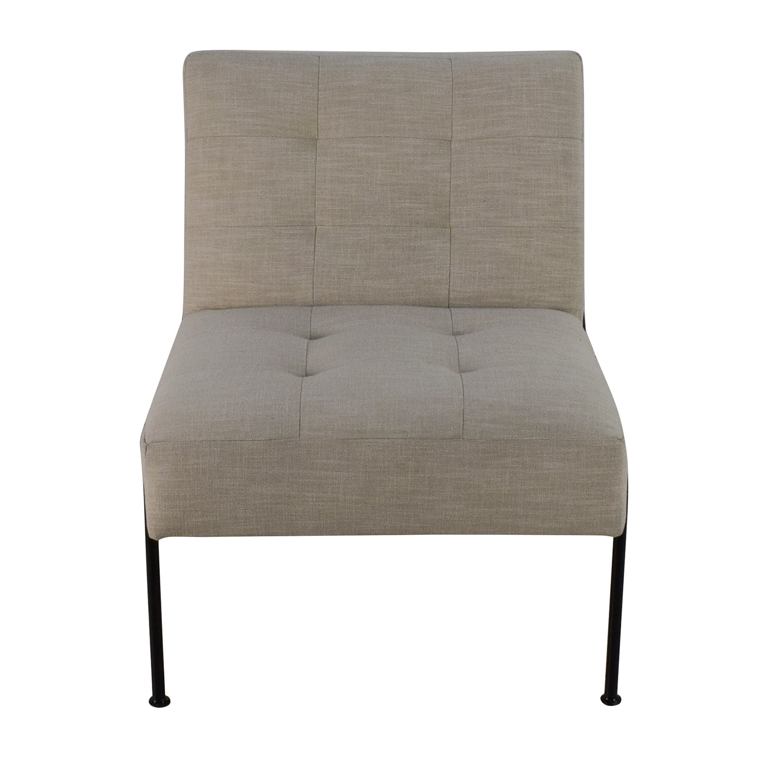 West Elm West Elm Oswald Tufted Slipper Chair for sale