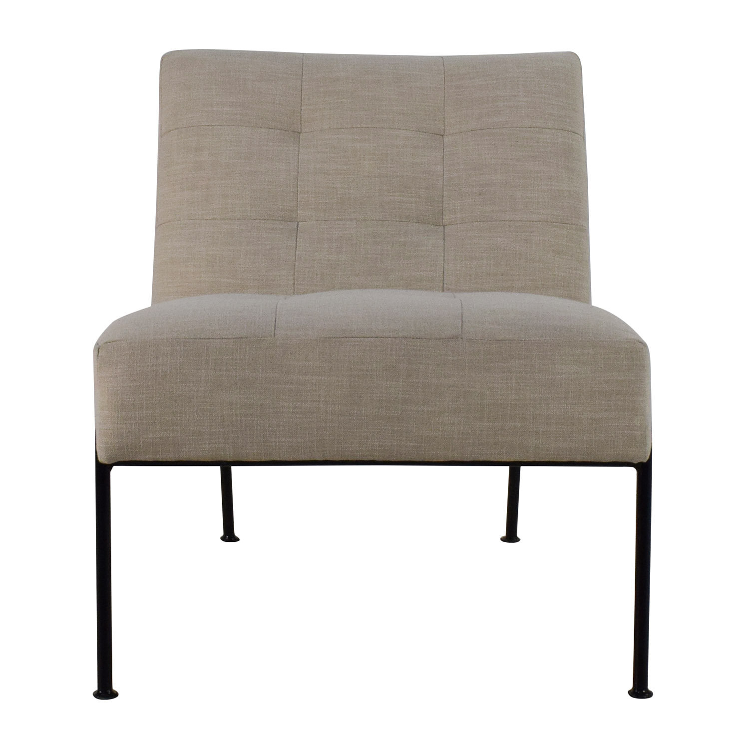 54 Off West Elm West Elm Oswald Tufted Slipper Chair