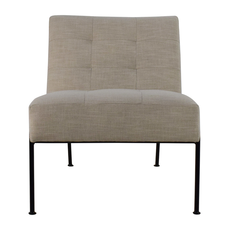 West Elm West Elm Oswald Tufted Slipper Chair discount