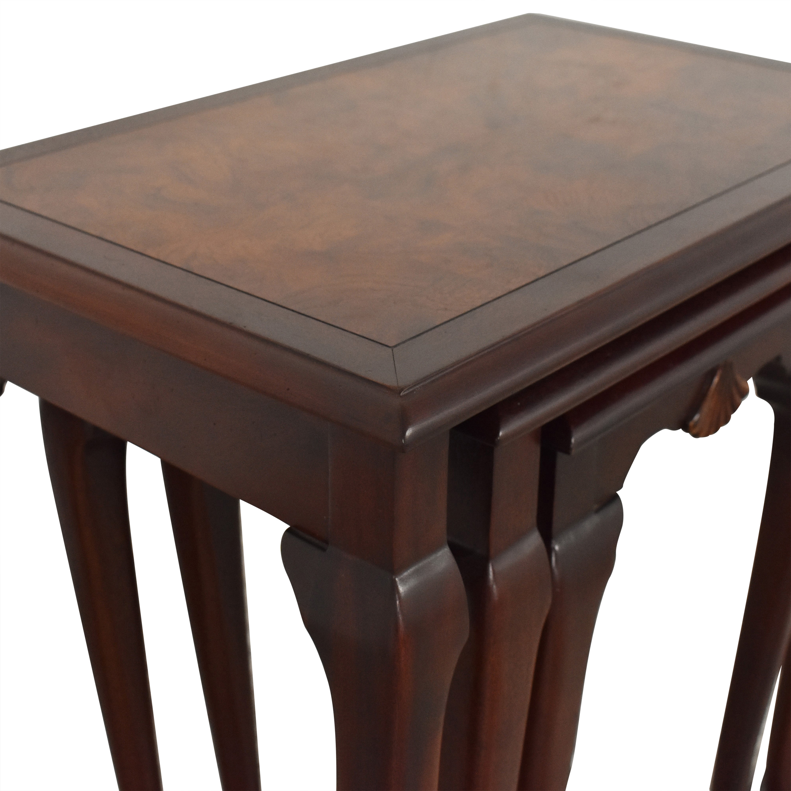 Hekman Furniture Heckman Queen Anne Style Nest of Tables used