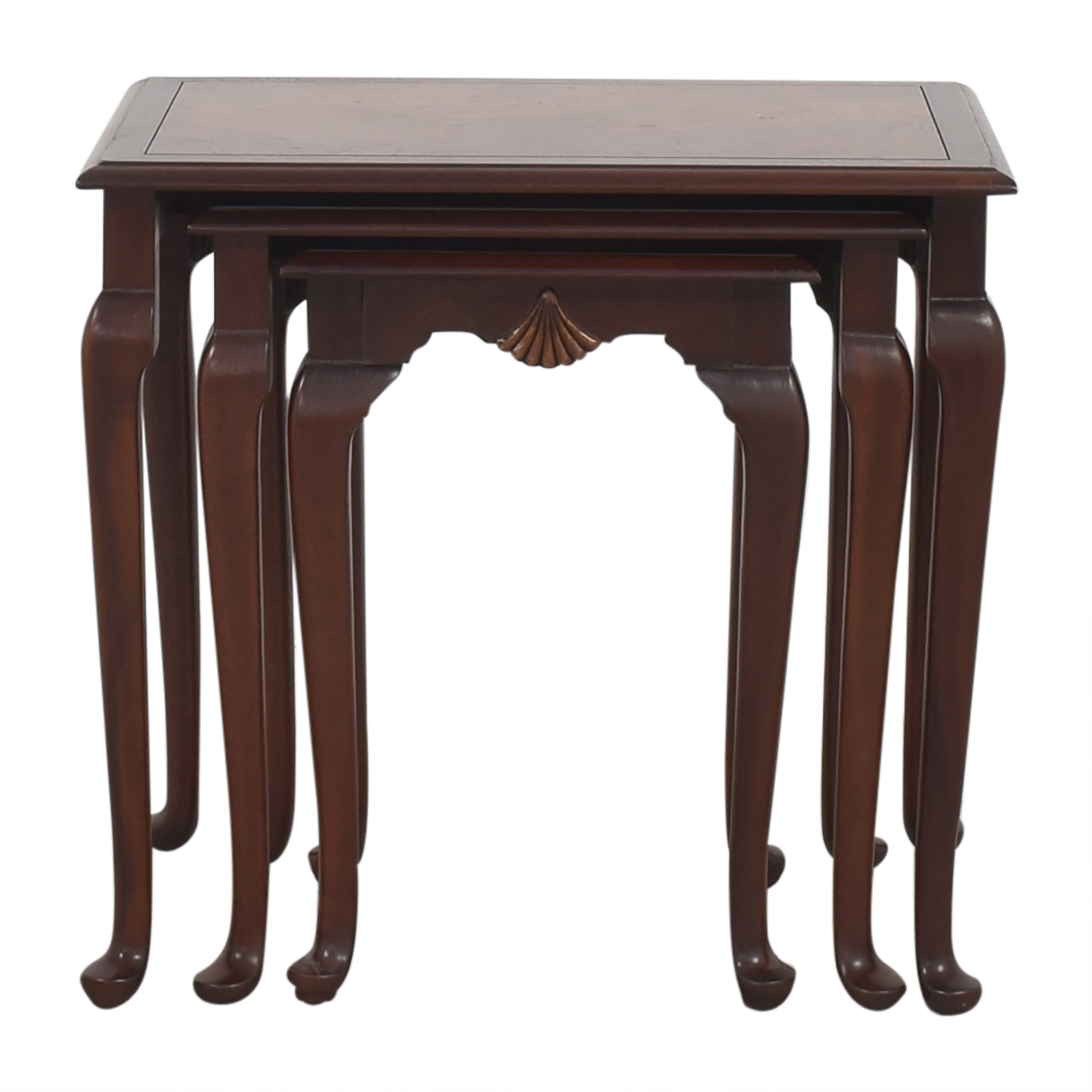 Hekman Furniture Heckman Queen Anne Style Nest of Tables pa