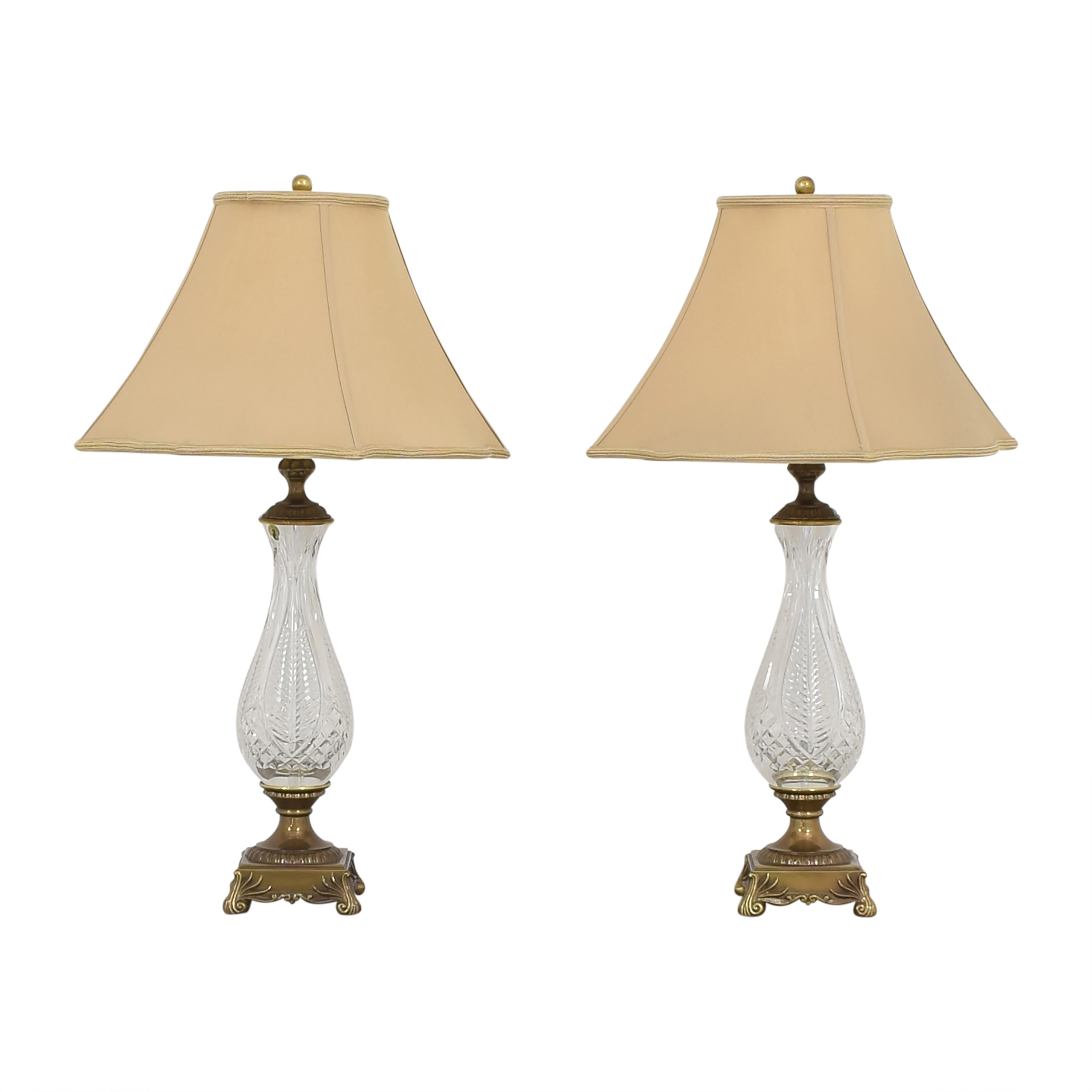 Waterford Waterford Empire Style Table Lamps second hand