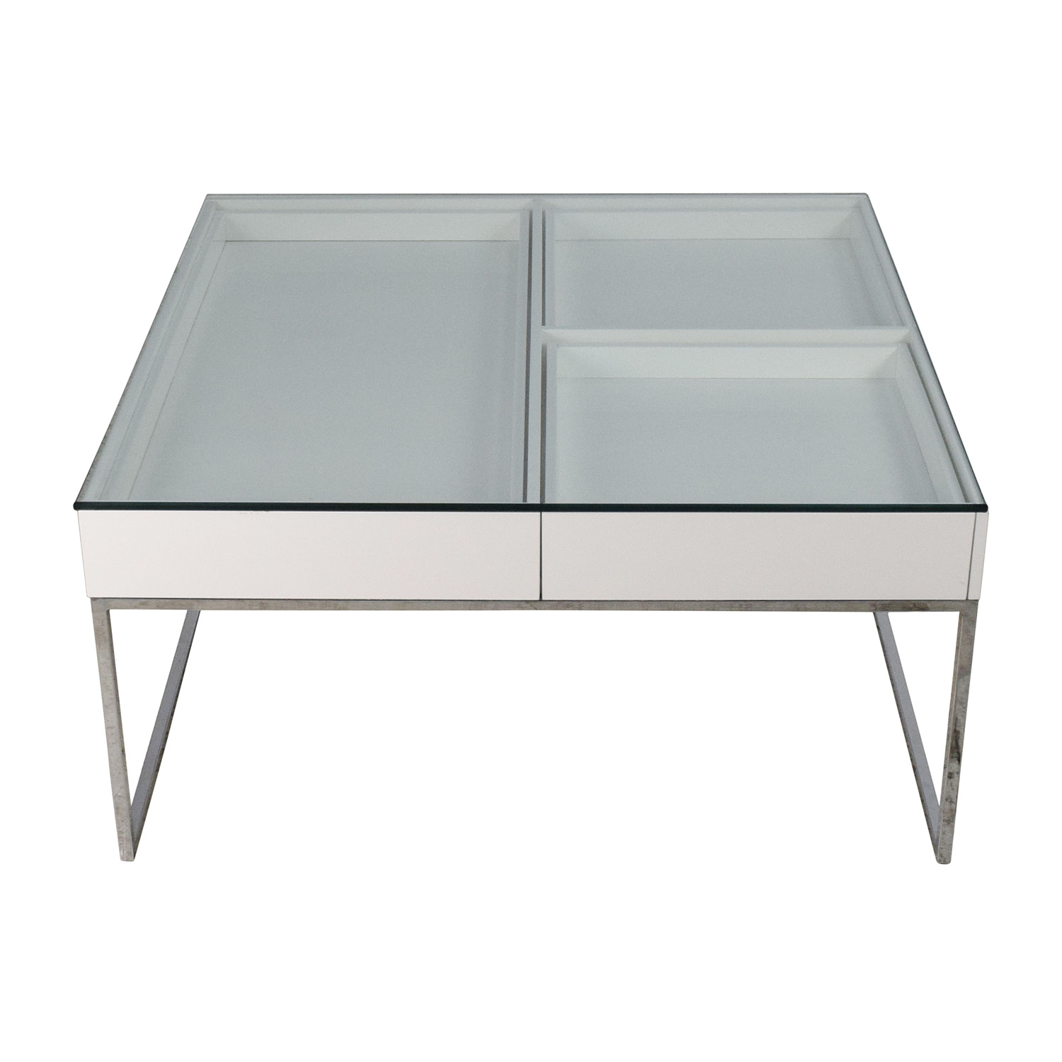 74% OFF - BoConcept BoConcept White Coffee Table / Tables