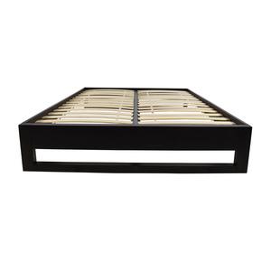 shop West Elm Full Size Wooden Platform Bed Frame West Elm