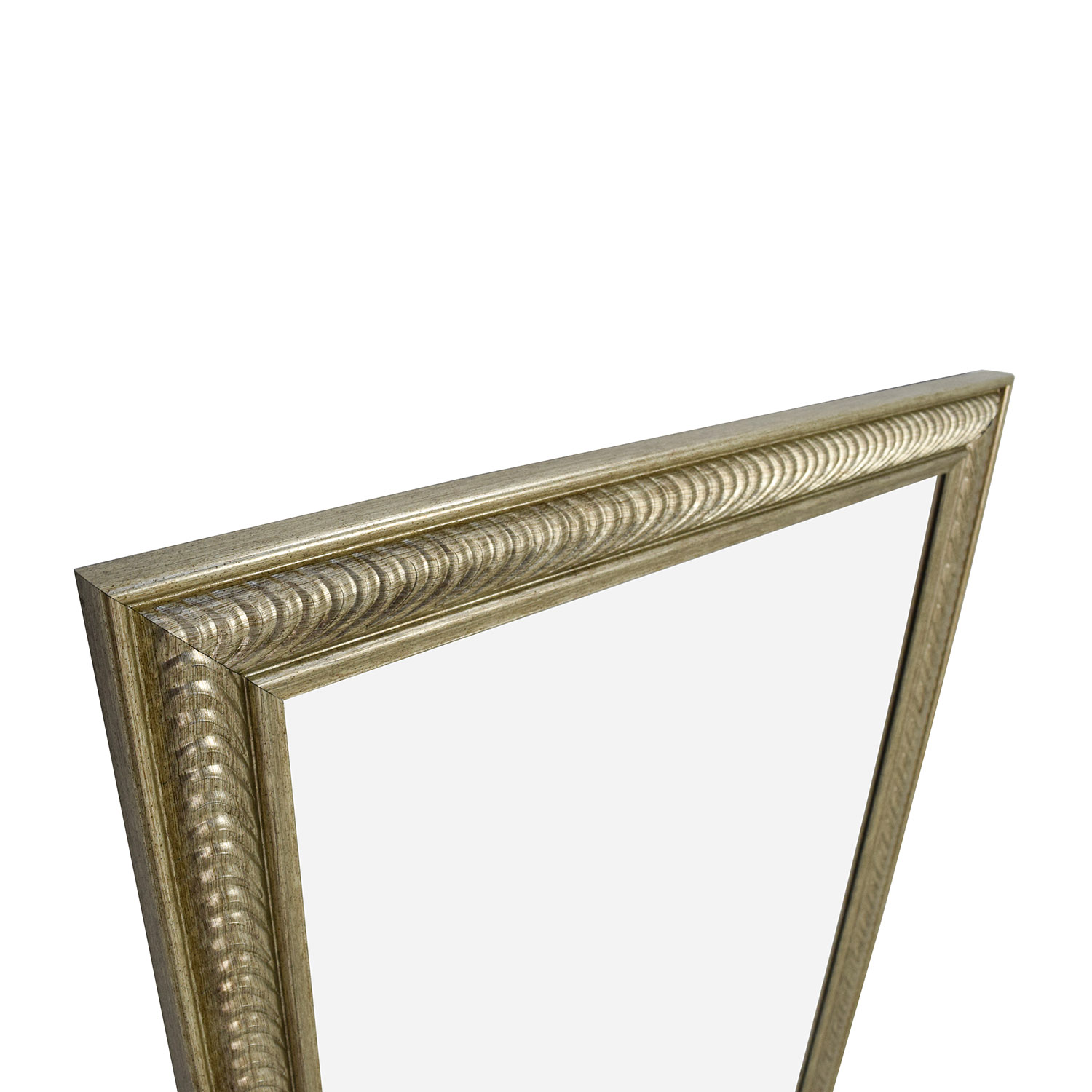 Wave Collection Wave Collection Silver Framed Wall Mirror Silver
