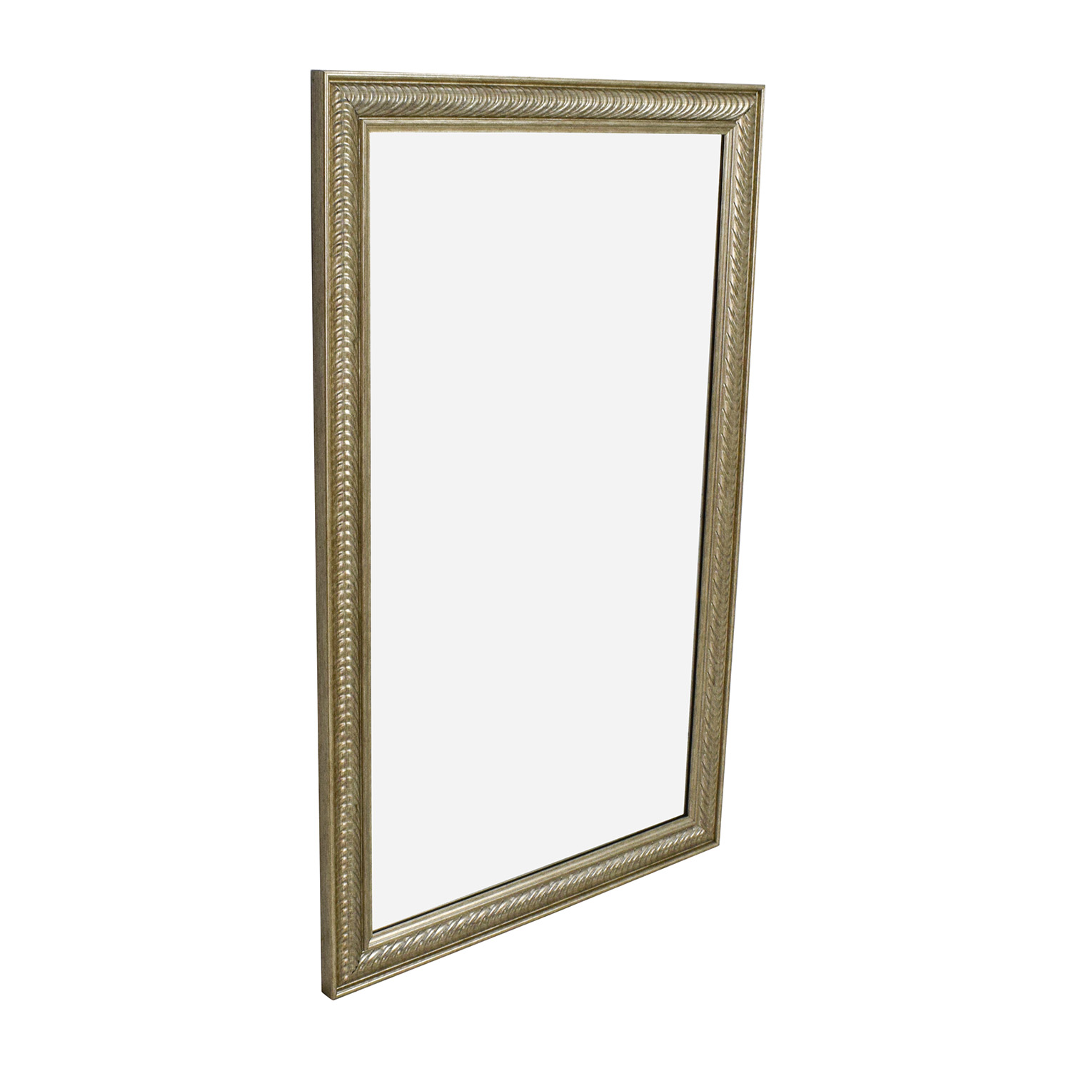 44 off wave collection wave collection silver framed for Silver framed mirror