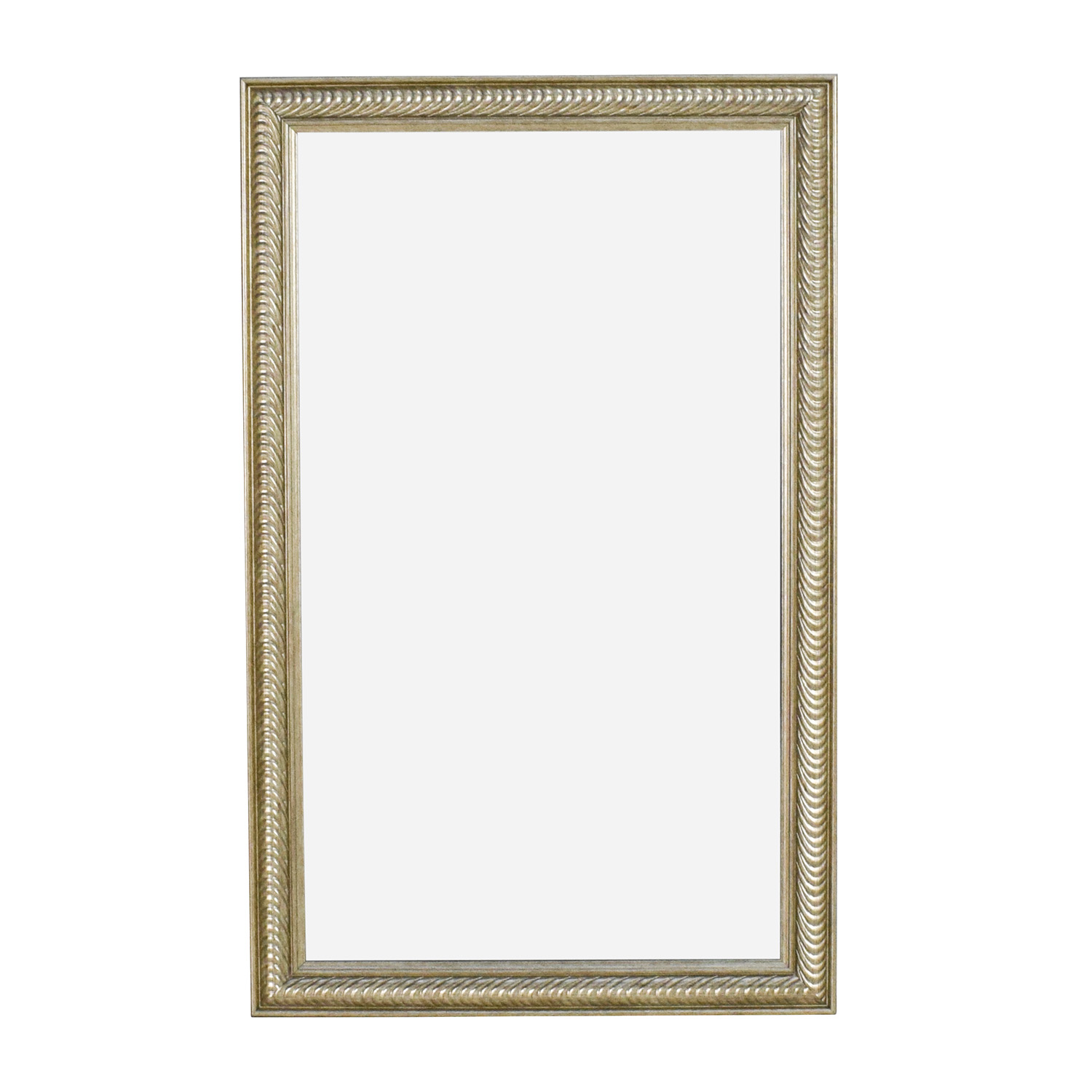 Wave Collection Wave Collection Silver Framed Wall Mirror Decor