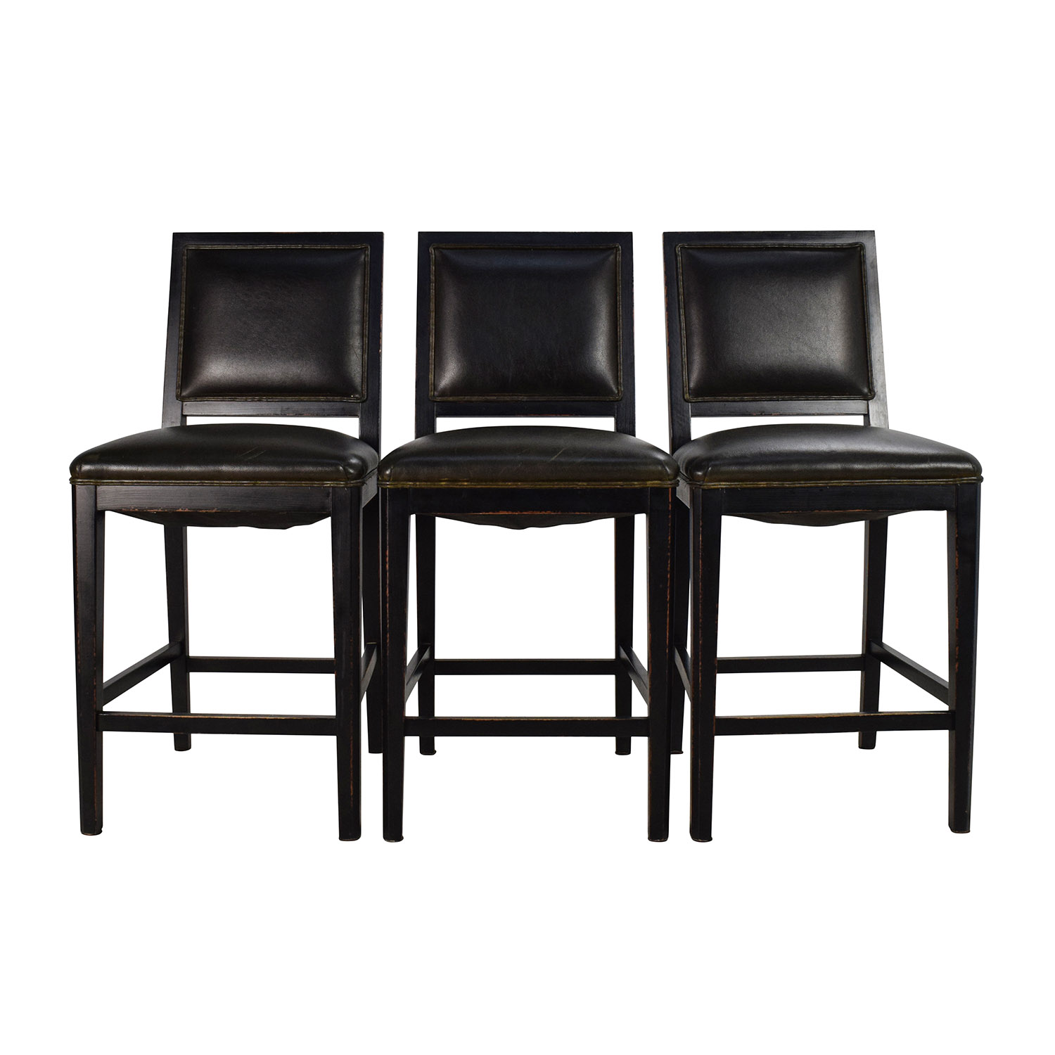 Crate and Barrel Crate & Barrel Leather High Chair Set on sale