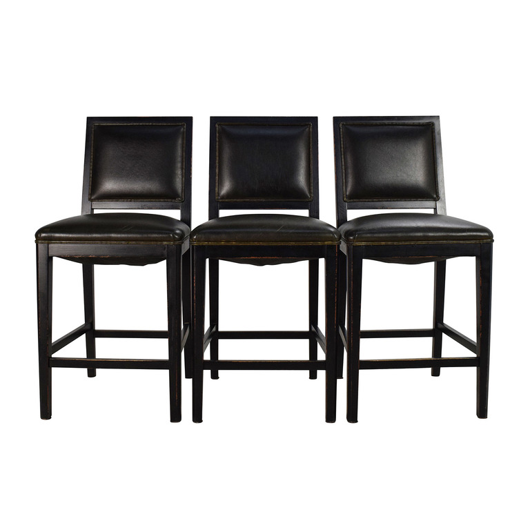 Crate & Barrel Crate & Barrel Leather High Chair Set for sale
