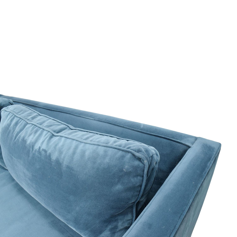 67% OFF West Elm West Elm Dunham Sectional Sofa Sofas