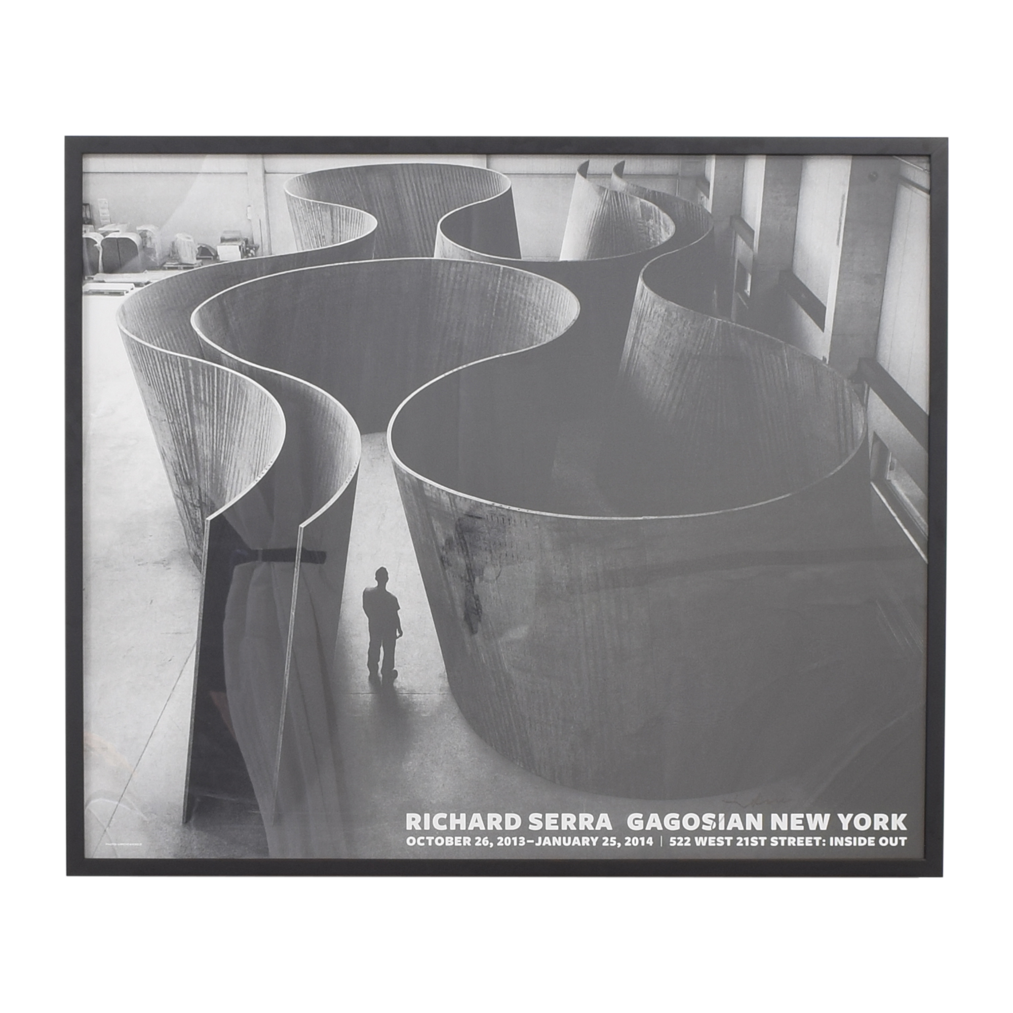 buy Gagosian Richard Serra Signed Framed Poster Gagosian Wall Art
