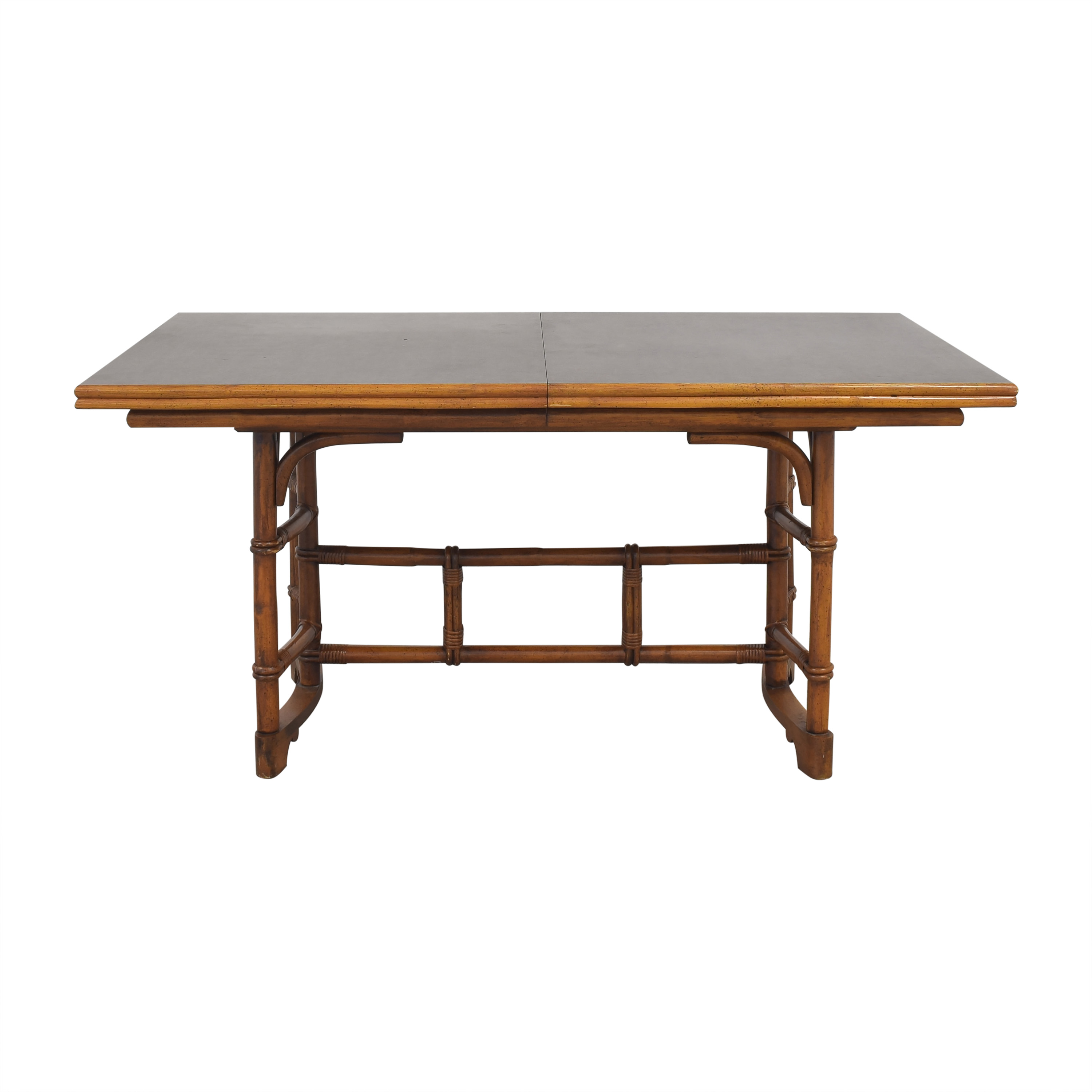 Ficks Reed Ficks Reed Bamboo Style Extendable Dining Table used