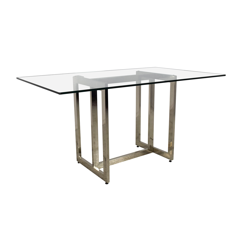 71 off west elm west elm hicks glass top dining table for Glass top dining table