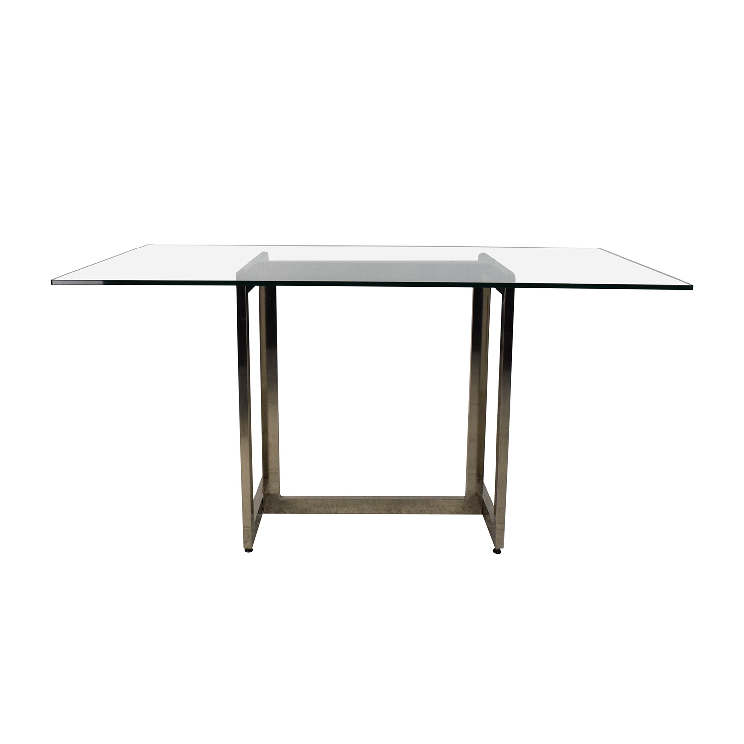 West Elm Hicks Glass Top Dining Table Nyc