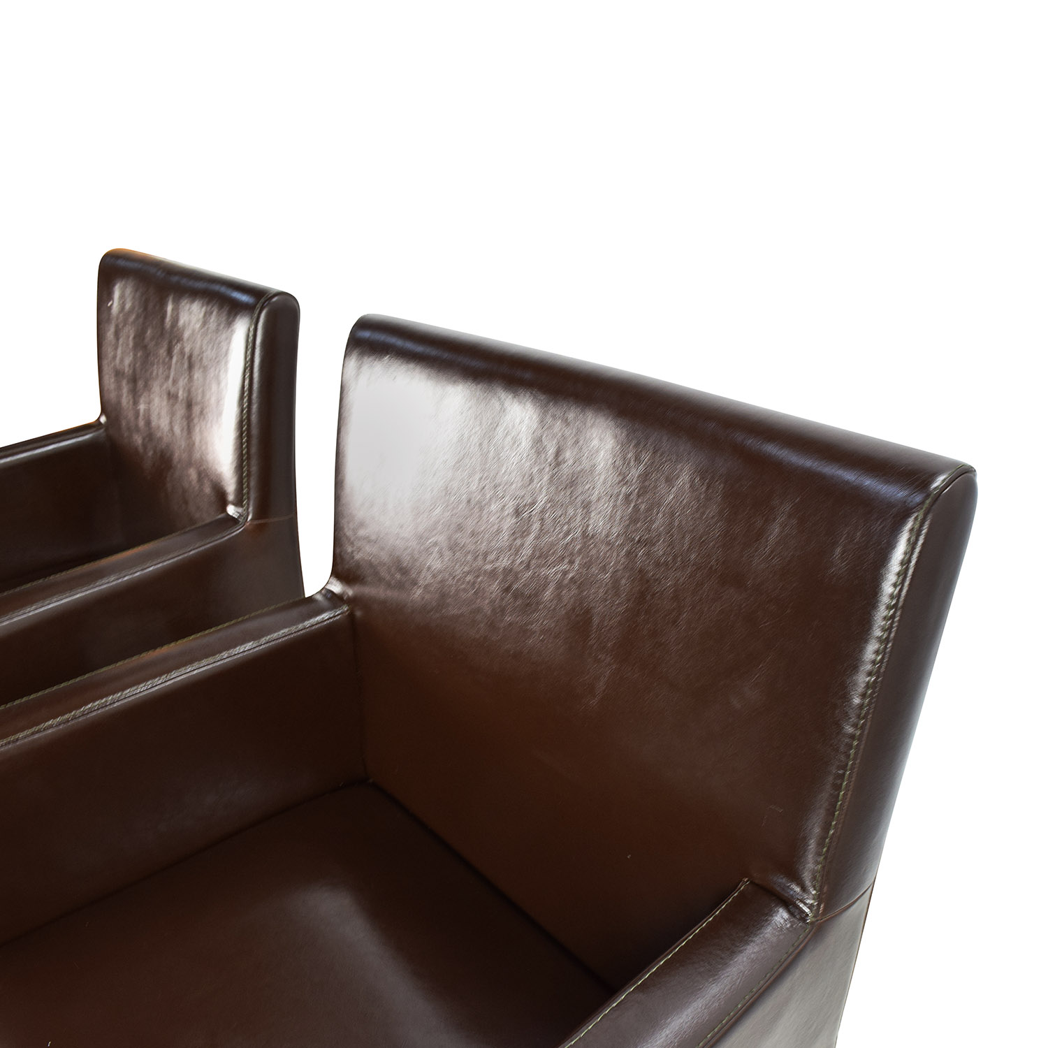 Black Leather Office Chairs Dark Brown