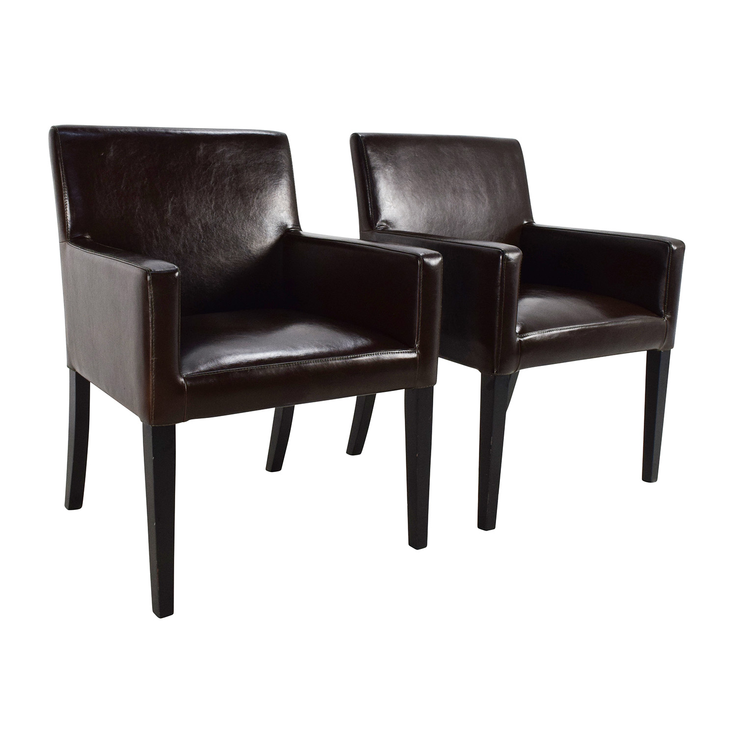 82 off black leather office chairs chairs for Furniture for the home