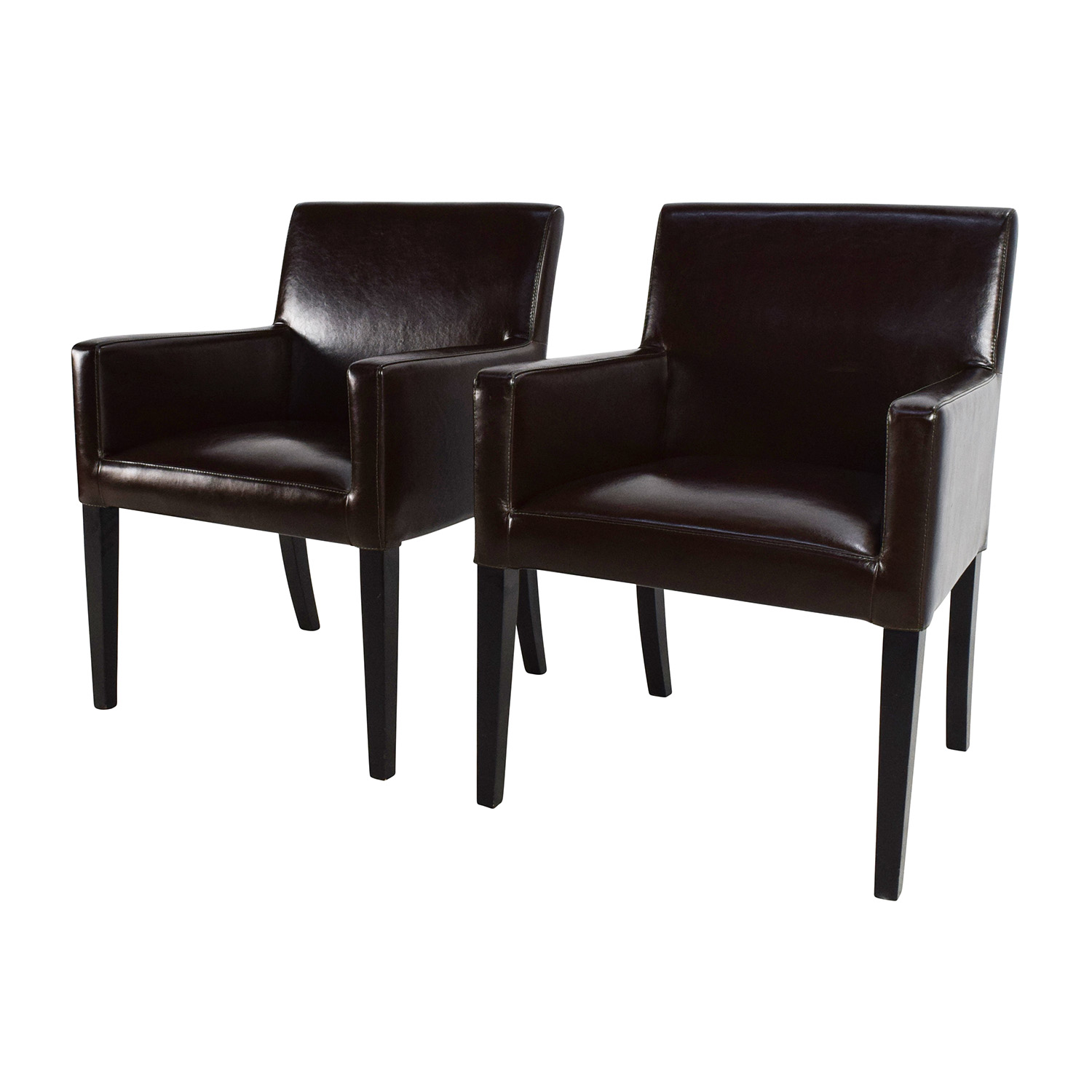 Black Leather Office Chairs dimensions