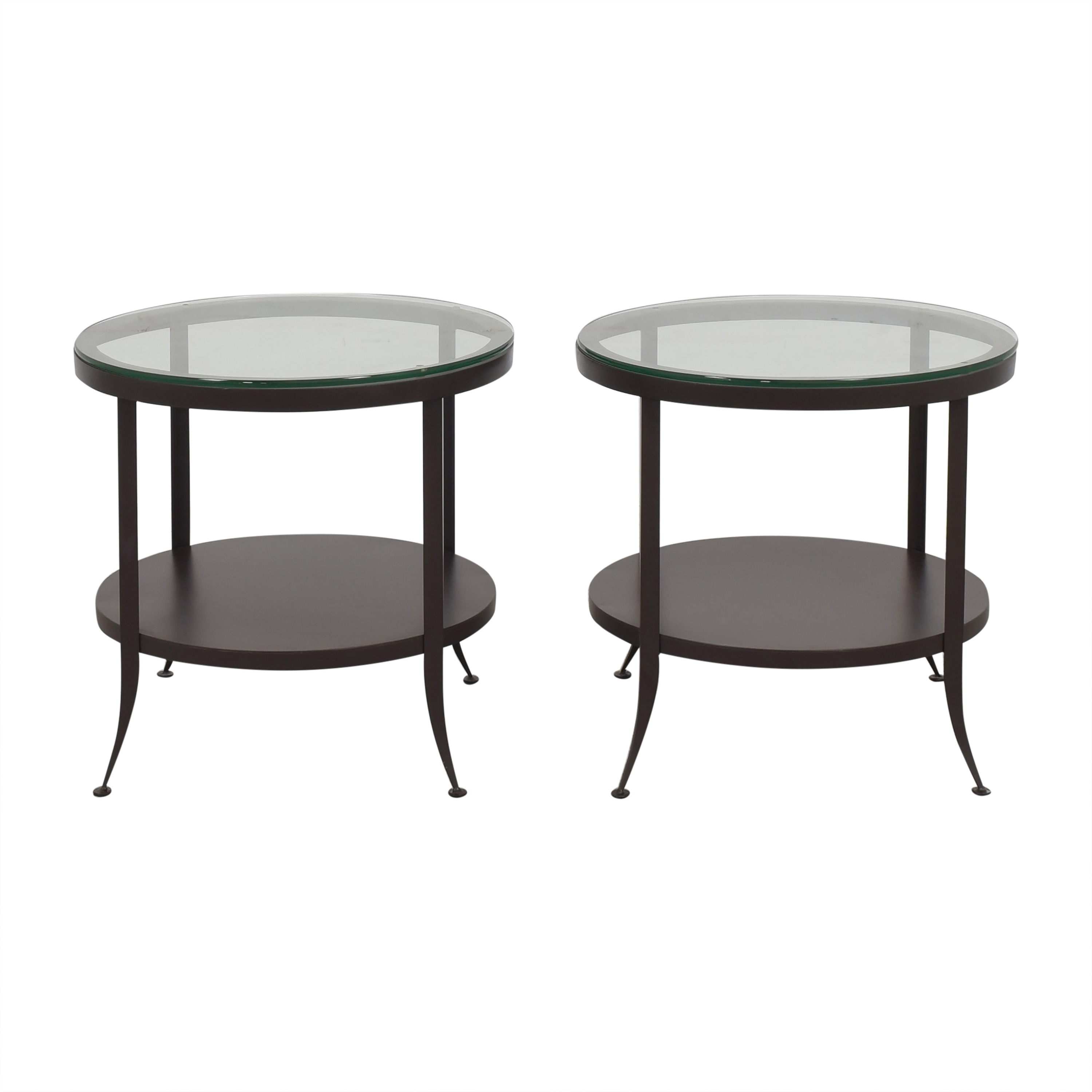 Crate & Barrel Crate  & Barrel Round Side Tables for sale