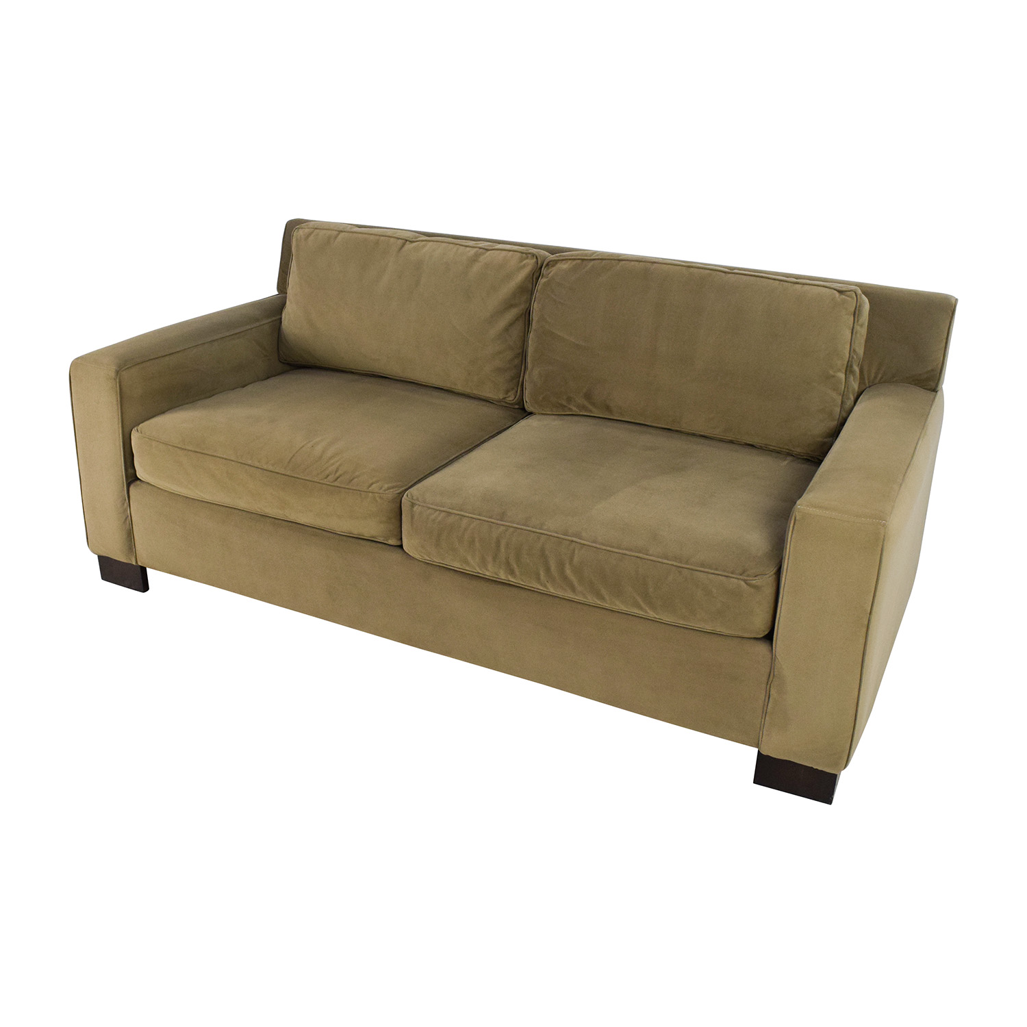 50 off west elm west elm classic henry beige cushion for Classic loveseat