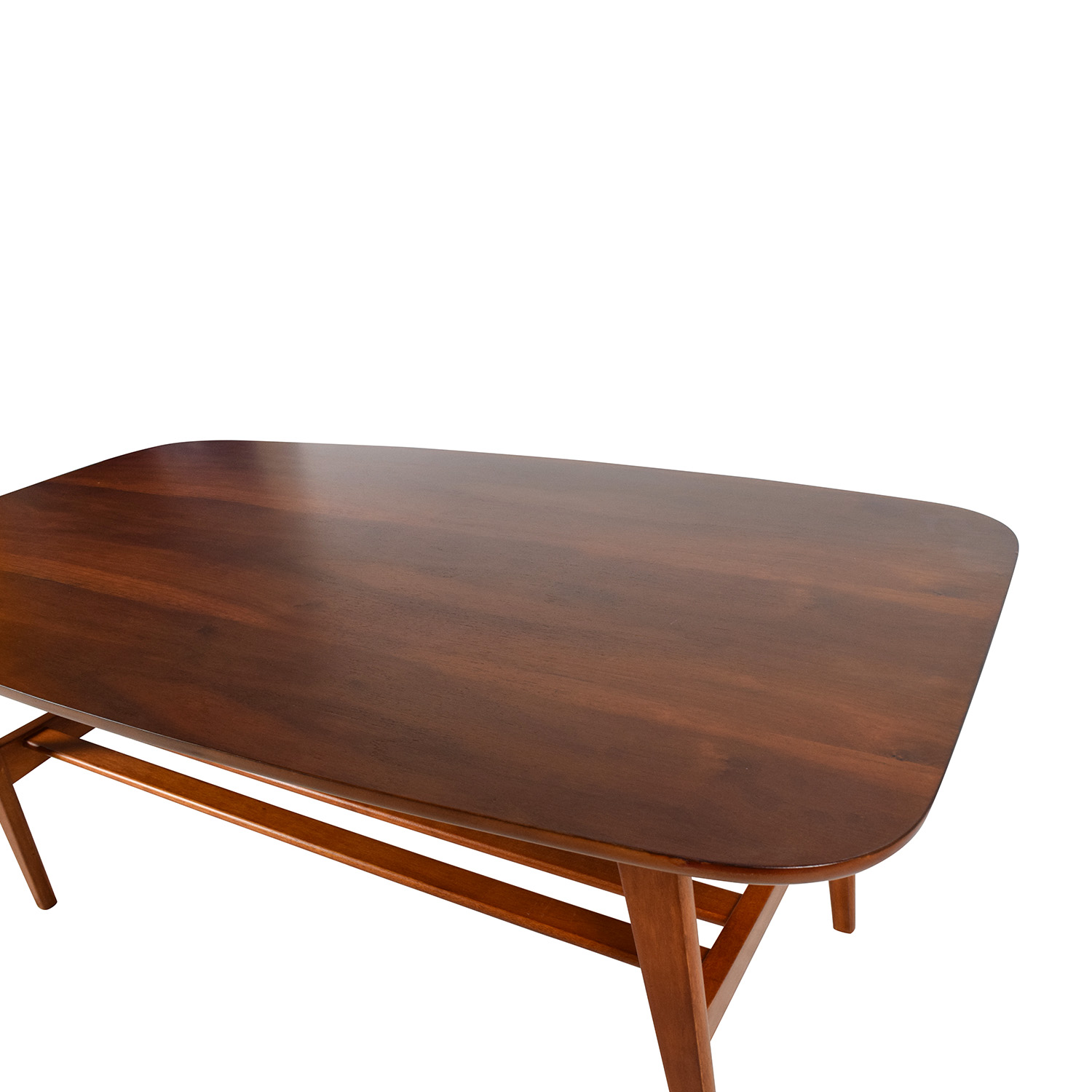 48 Off Brown Wood Coffee Table With Shelf Tables