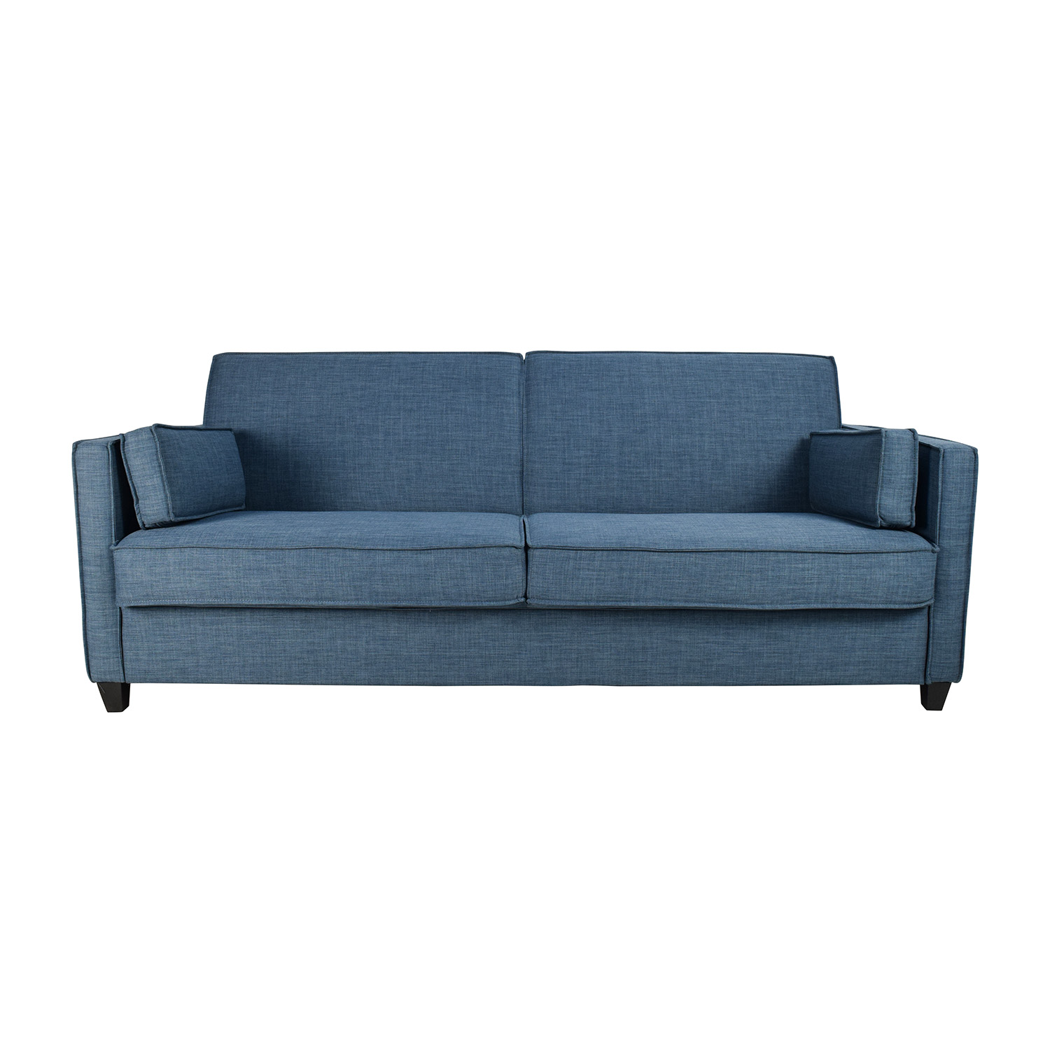 OFF Blue Full Size Convertible Storage Futon Sofas