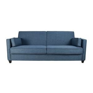 buy Blue Full Size Convertible Storage Futon